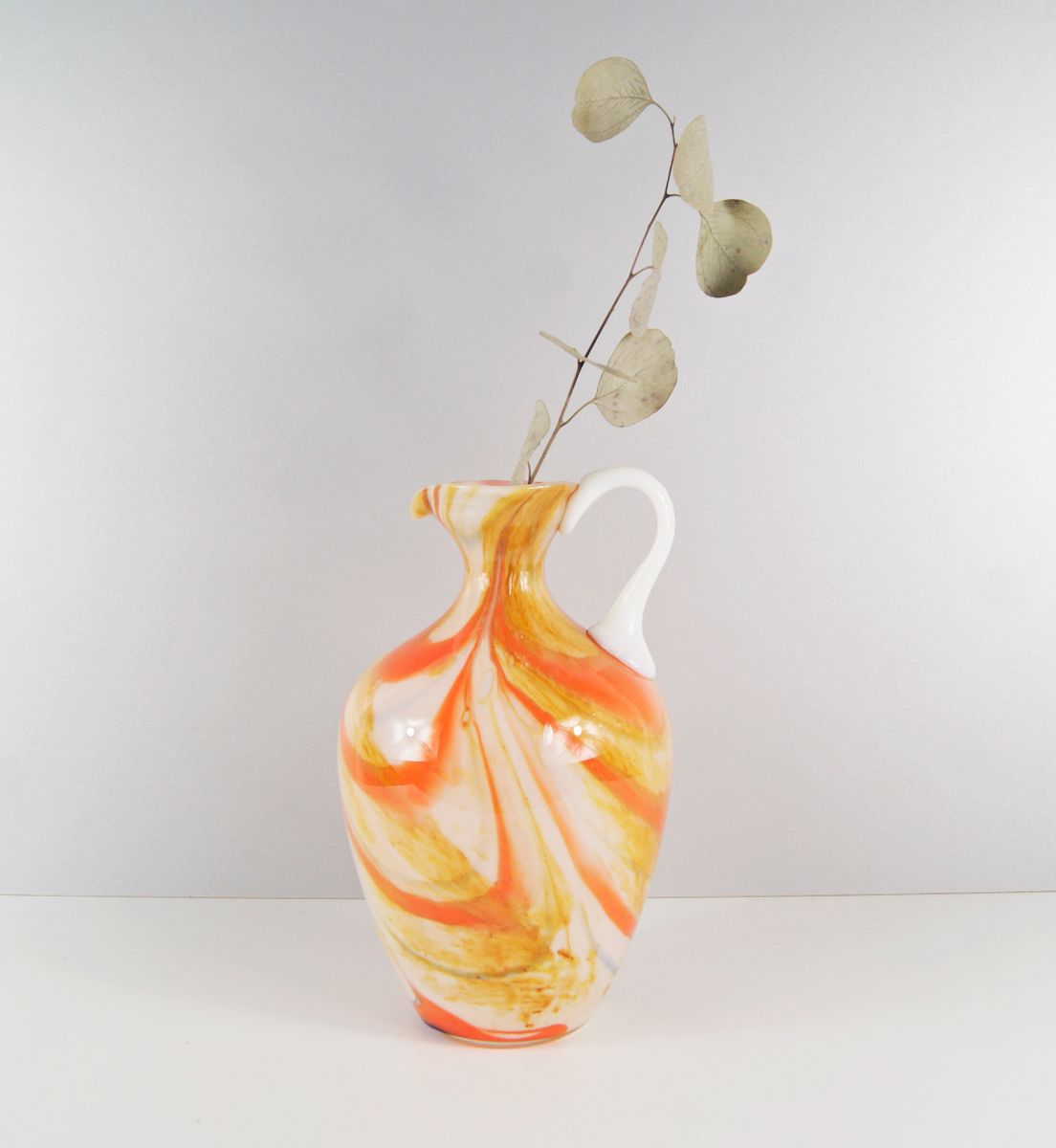 Marmorierte vintage glasvase von carlo moretti bei pamono - Glasvase vintage ...
