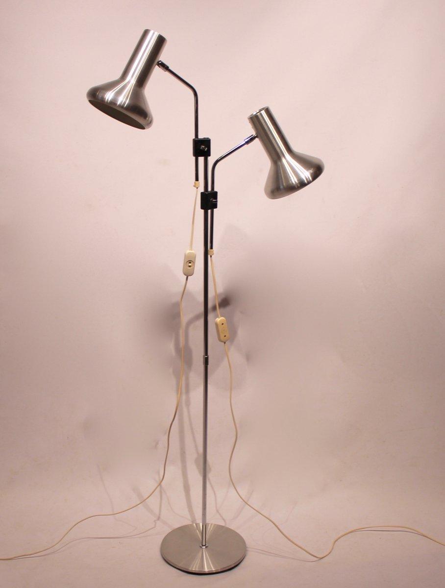 Dänische Vintage Stehlampe aus Stahl, 1960er