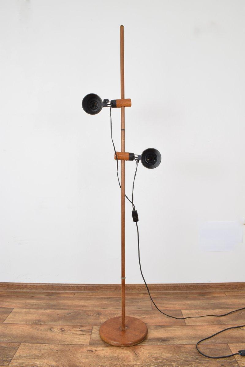 Schweizer Stehlampe aus Teak von Temde, 1960er