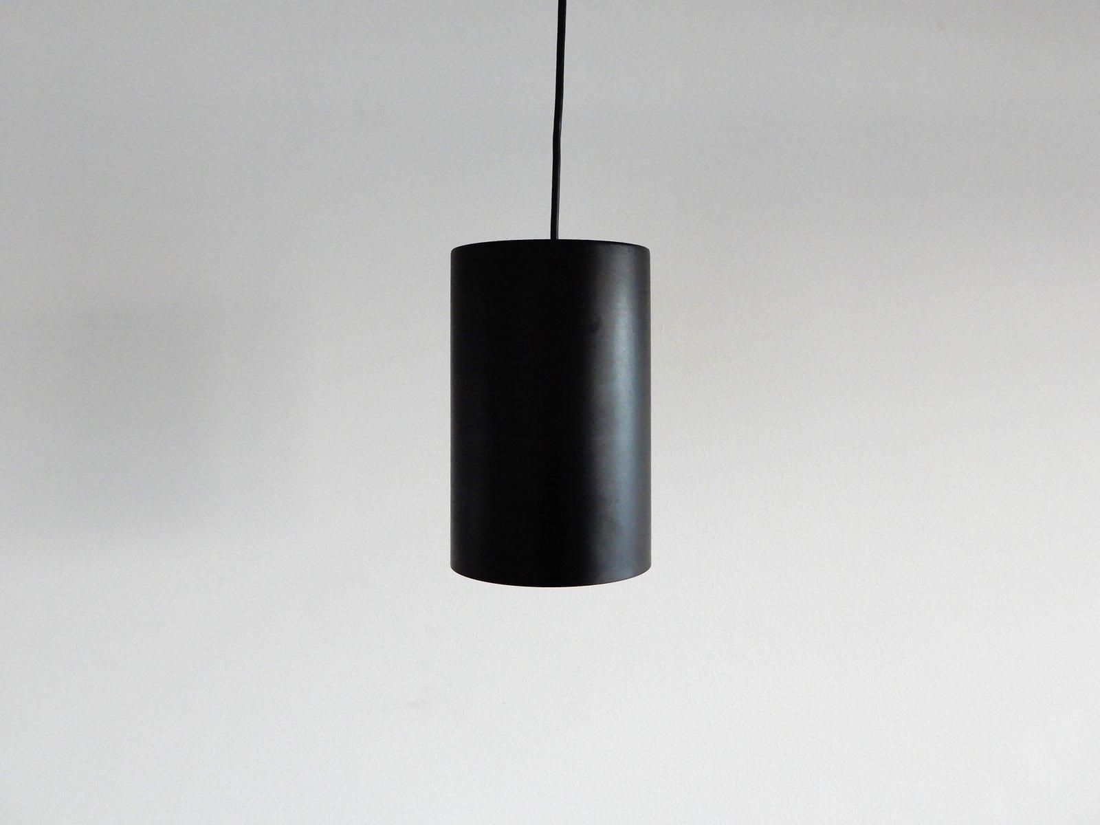 Schwarze Deckenlampen aus Metall, 1960er, 5er Set