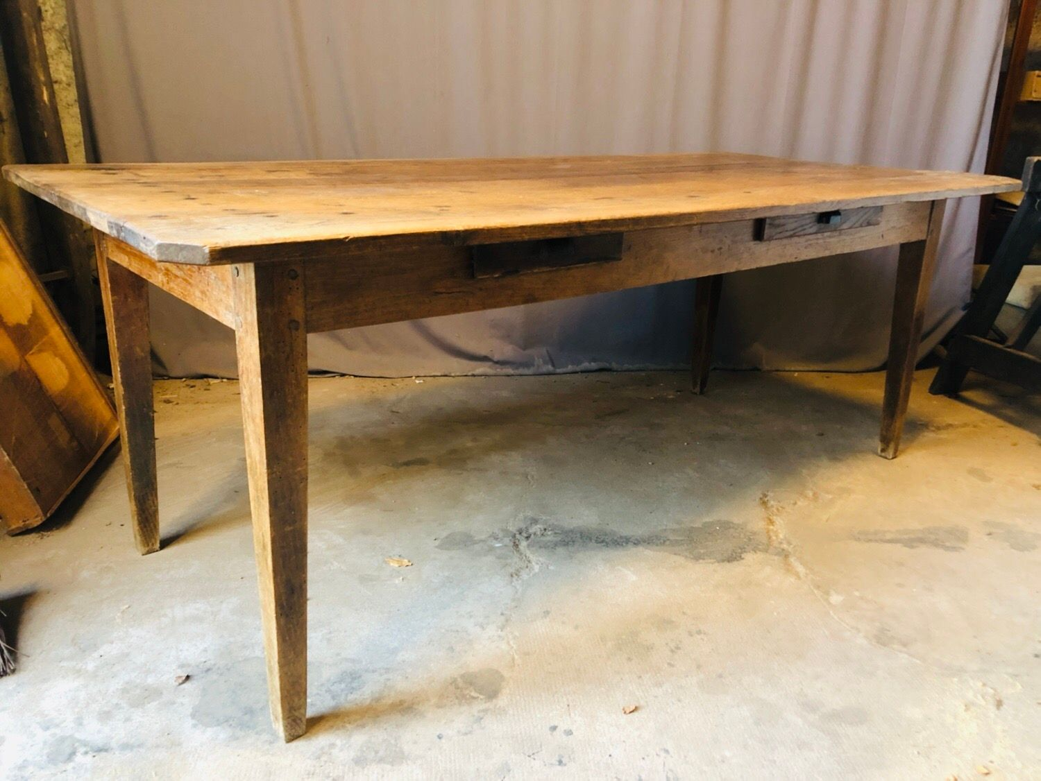 Antique French Oak Dining Table