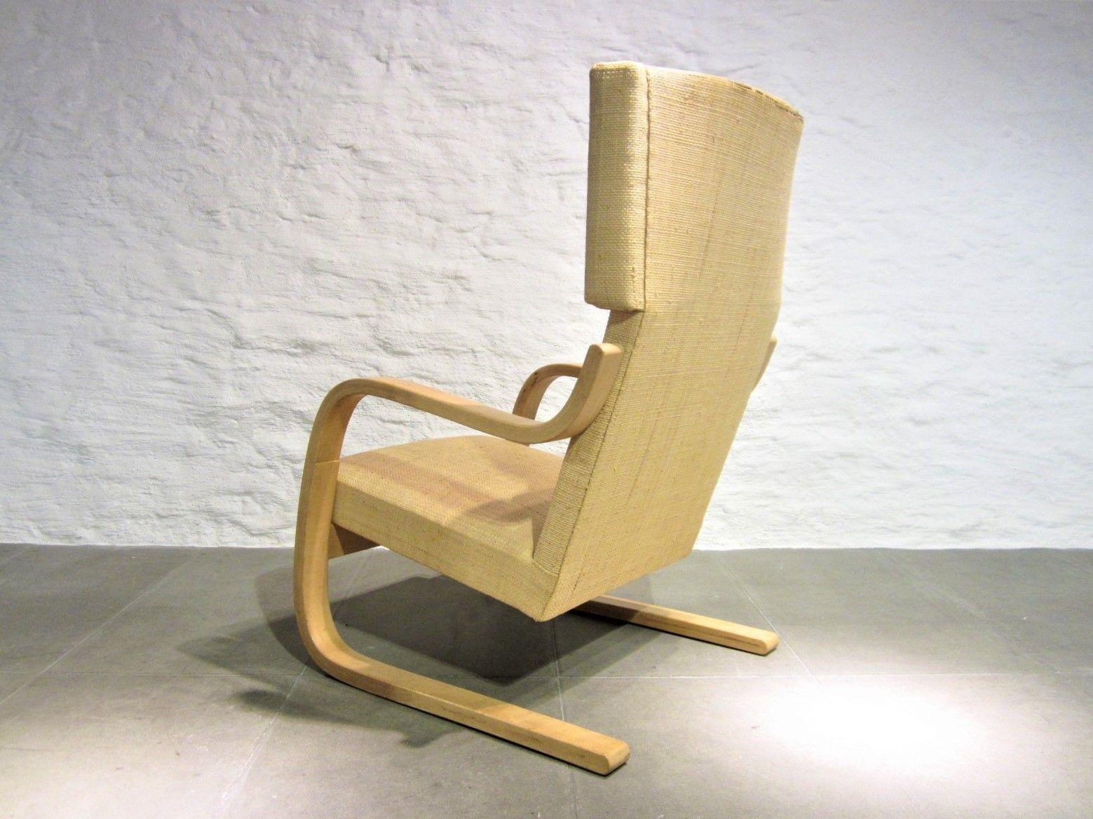 modell 401 sessel mit hoher r ckenlehne von alvar aalto. Black Bedroom Furniture Sets. Home Design Ideas
