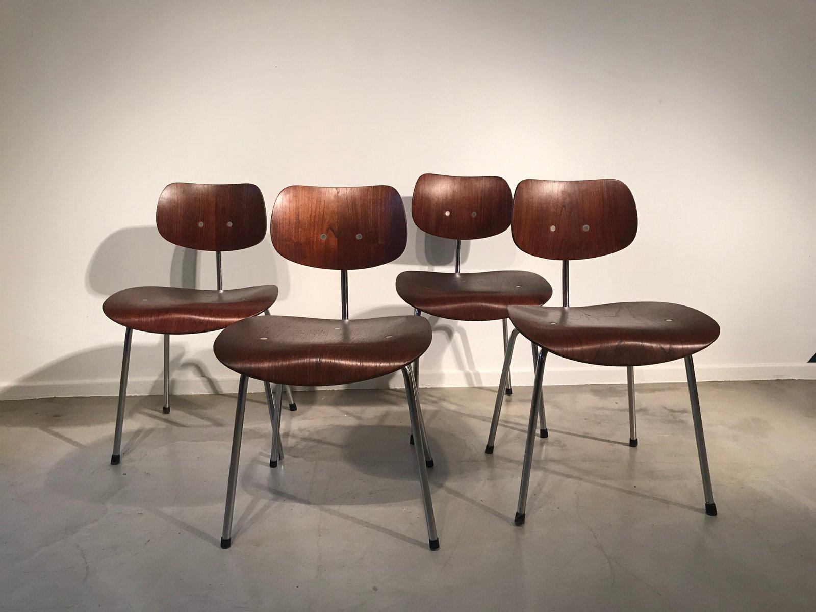 Se68 Su Stühle Von Egon Eiermann Für Wildespieth 1960er 4er Set