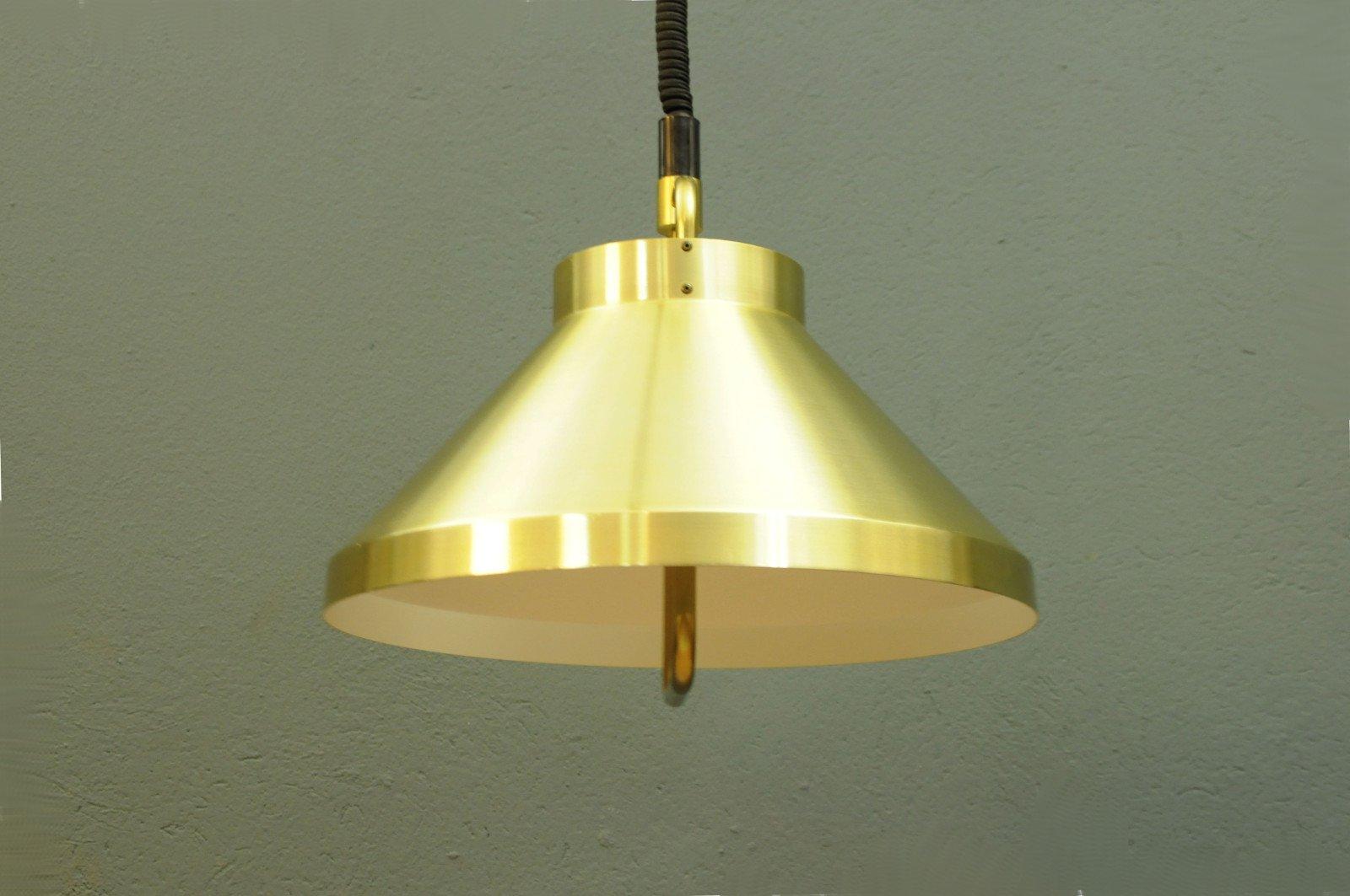 Lampade A Sospensione Vintage : Lampada a sospensione vintage dorata di belid anni 60 in vendita