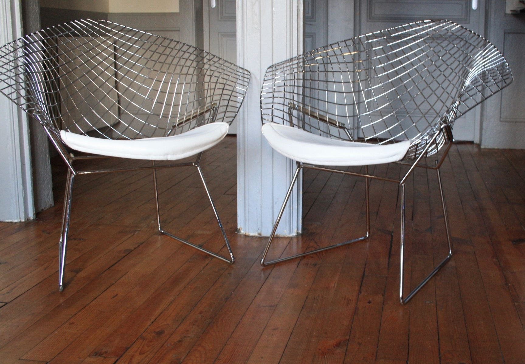 Diamond Chairs in Erstauflage von Harry Bertoia für Knoll, 1960er, 2er...