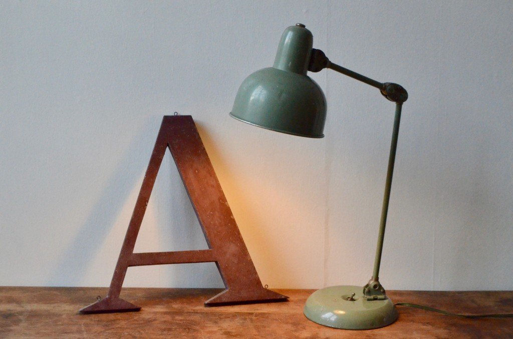 Vintage Industrial Table Lamp 1940s For Sale At Pamono
