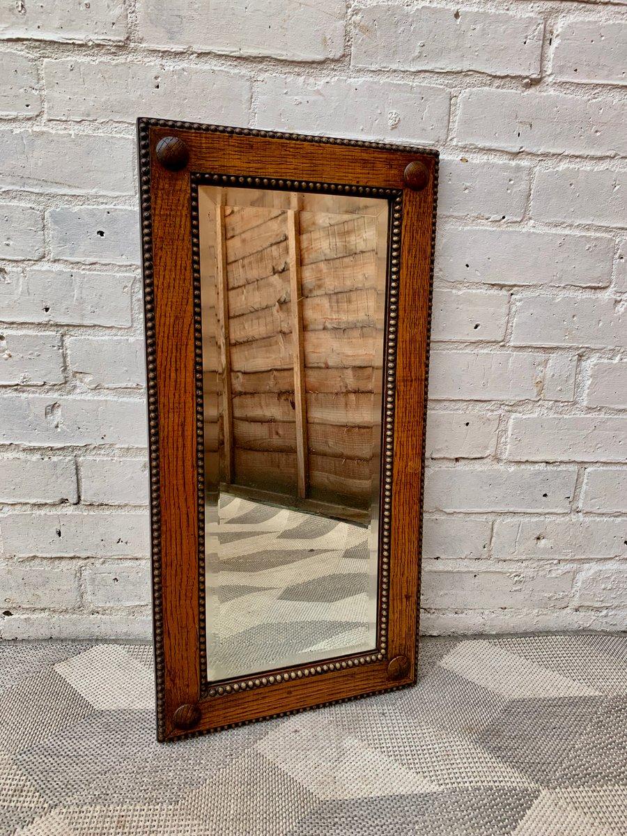 kleiner rechteckiger vintage spiegel mit holzrahmen bei. Black Bedroom Furniture Sets. Home Design Ideas