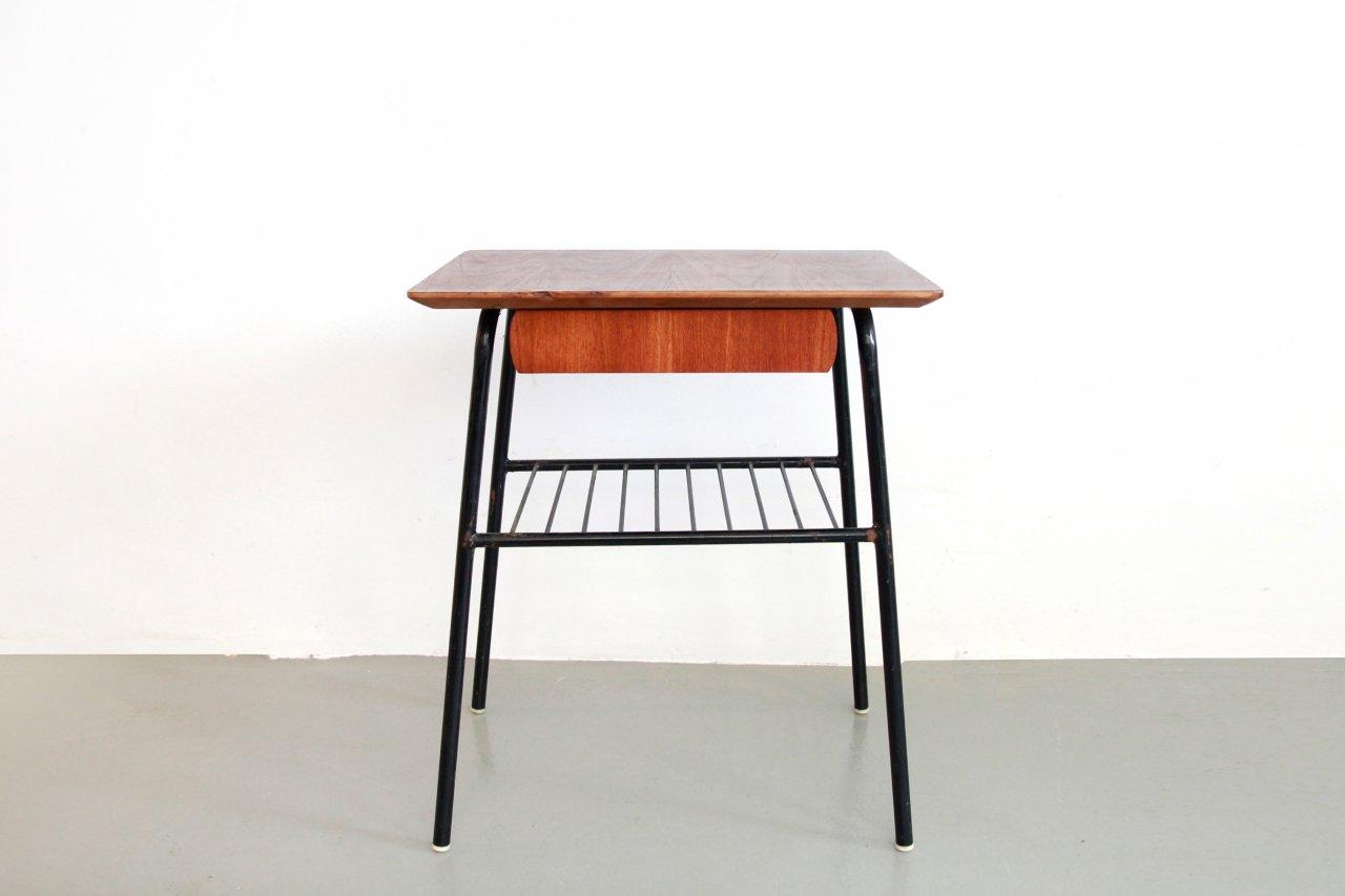 Table Dappoint Avec Tiroir Vintage En Teck Suède En Vente Sur Pamono