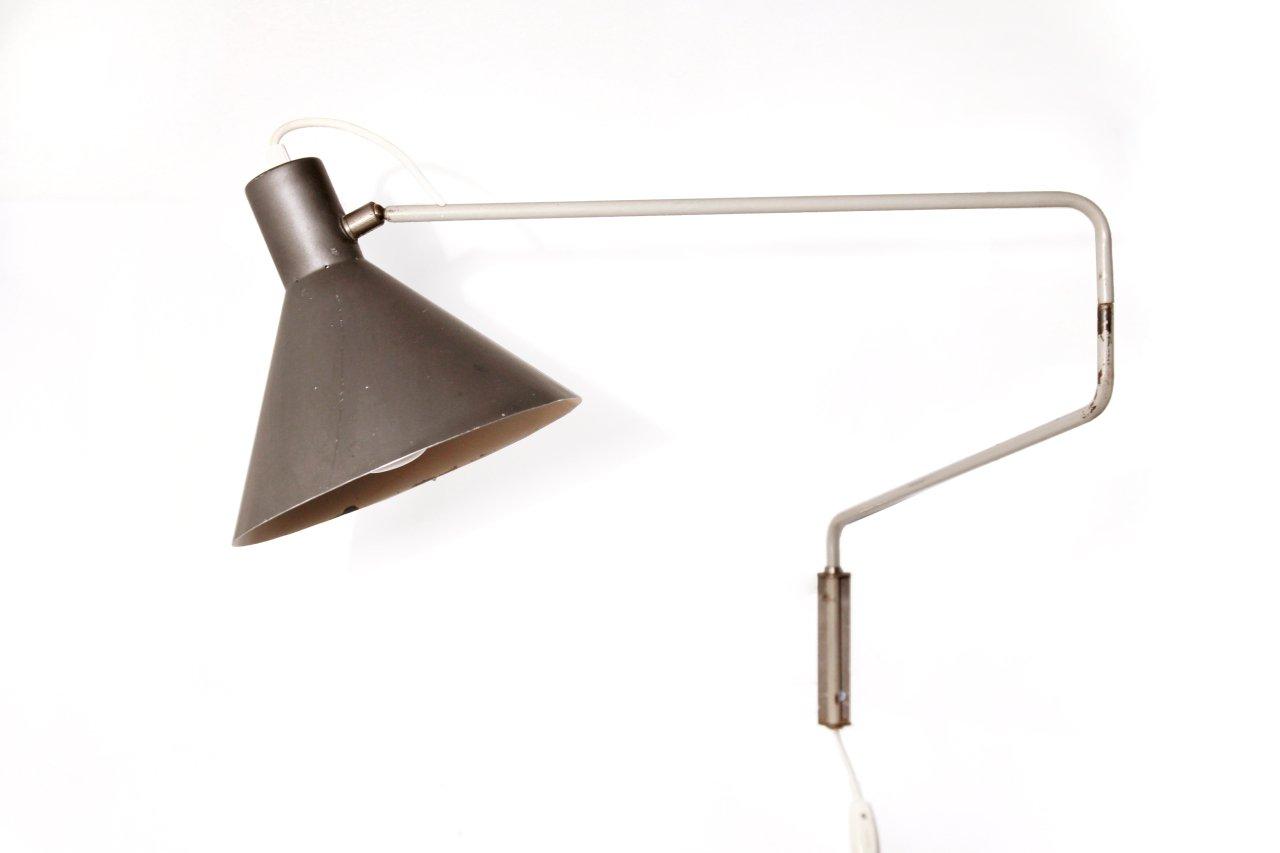 Schwenkbare 7058 Elbow Wandlampe von J. Hoogervorst für Anvia, 1950er