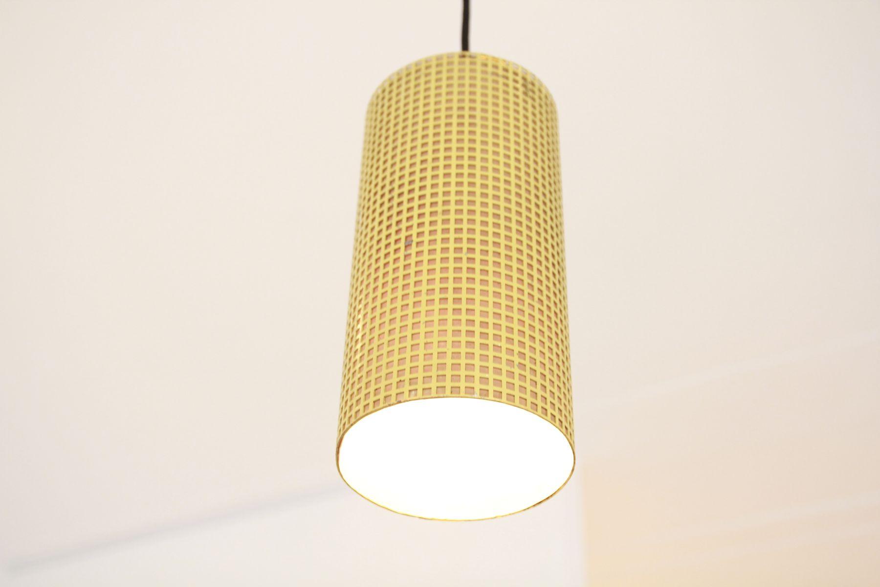 Vintage Yellow Perforated Metal Pendant Lamp 4 286 00 Price Per Piece