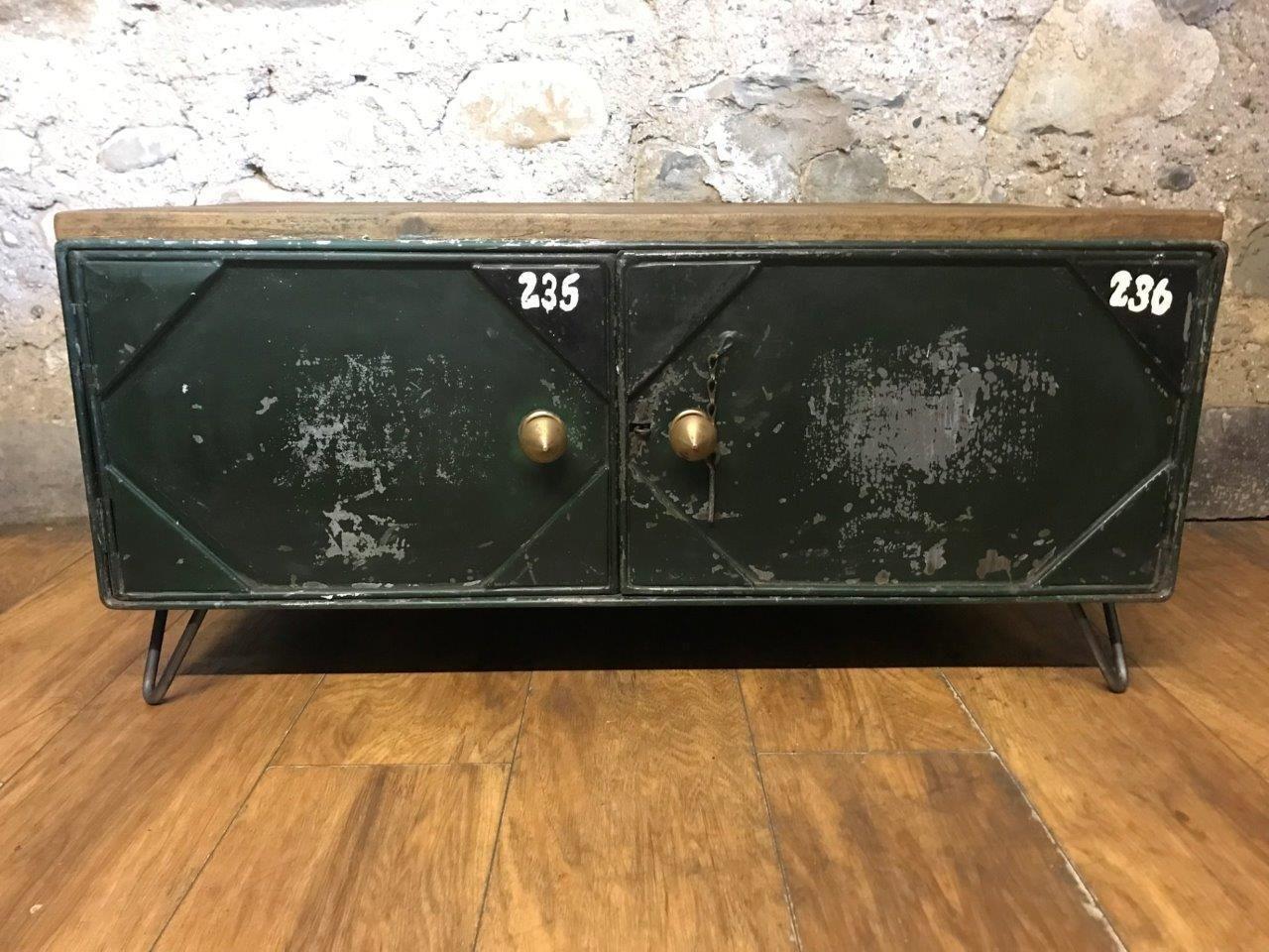 Vintage Industrial Metal Sideboard Or Coffee Table