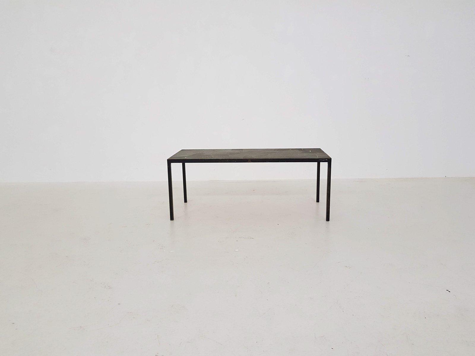 Vintage metal stone coffee table 1970s