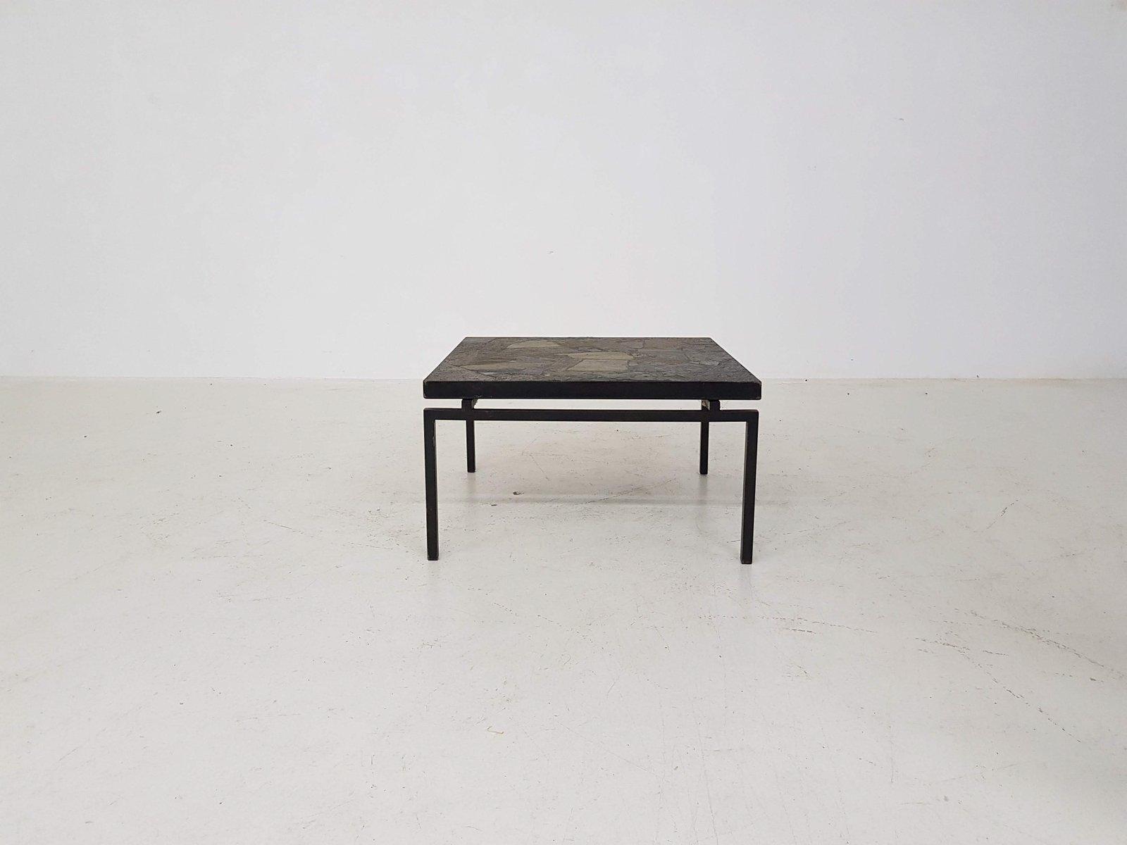 couchtisch aus stein metall 1970er bei pamono kaufen. Black Bedroom Furniture Sets. Home Design Ideas