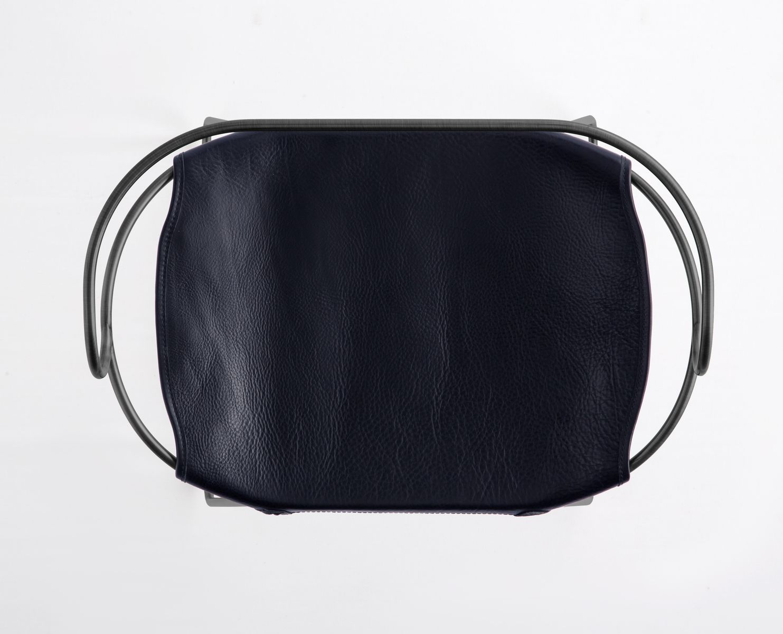 Black Smoke Steel Amp Navy Blue Vegetable Tanned Leather Hug