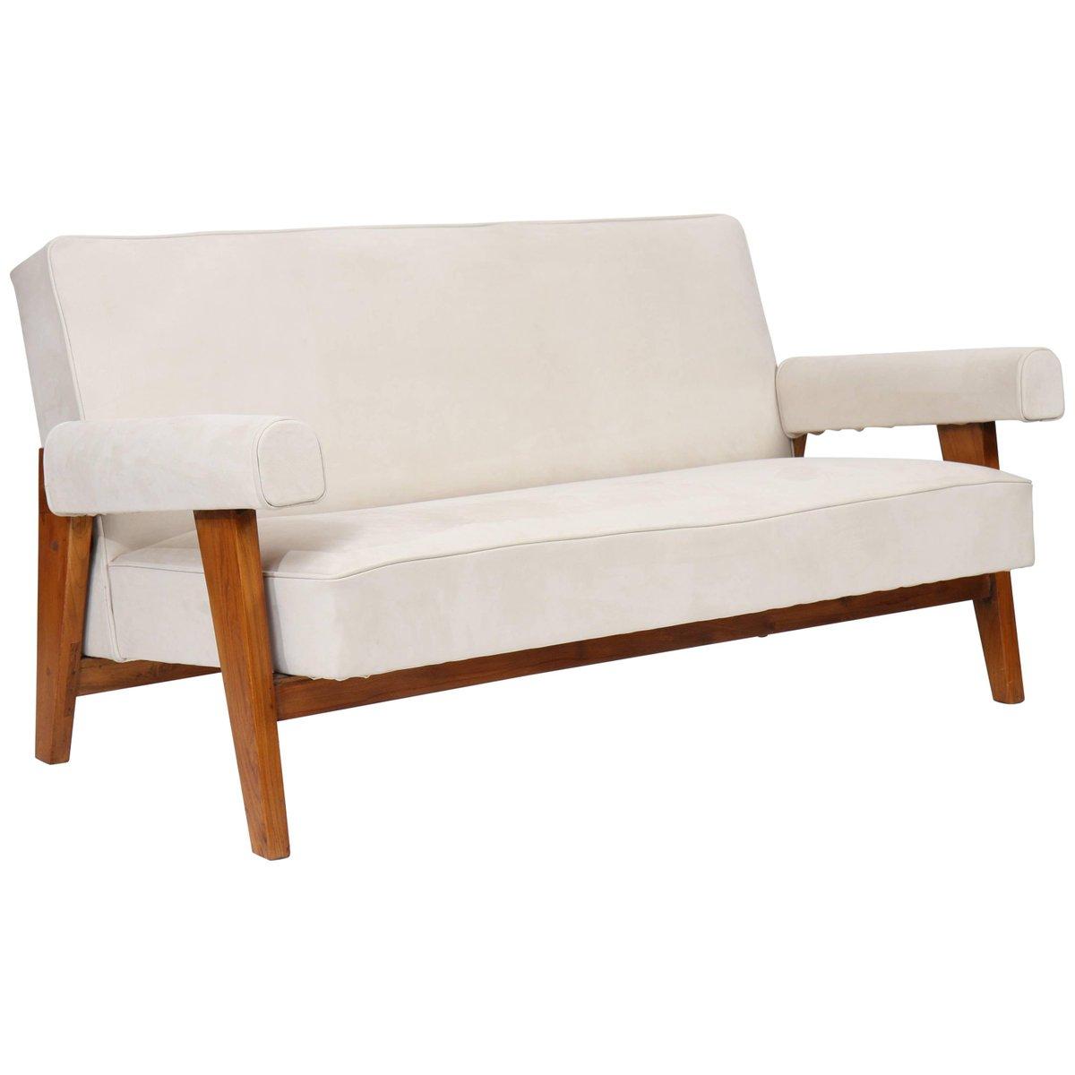 Lounge Sofa von Le Corbusier & Pierre Jeanneret, 1955