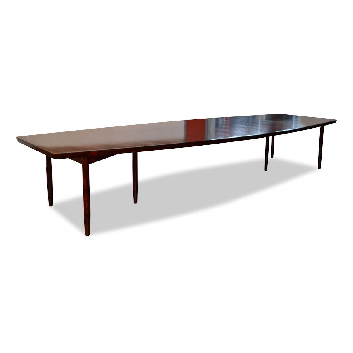 Großer Vintage Konferenztisch aus Palisander von Arne Vodder für Sibas...