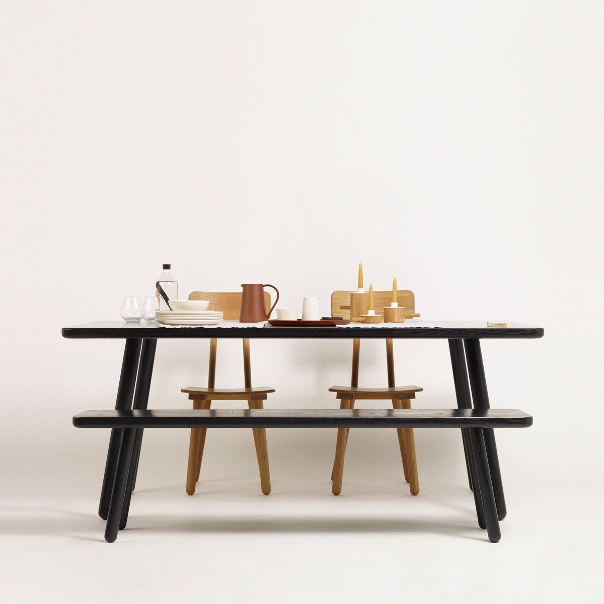 Large Black Dining Table: Large Black Ash Dining Table One By Another Country For
