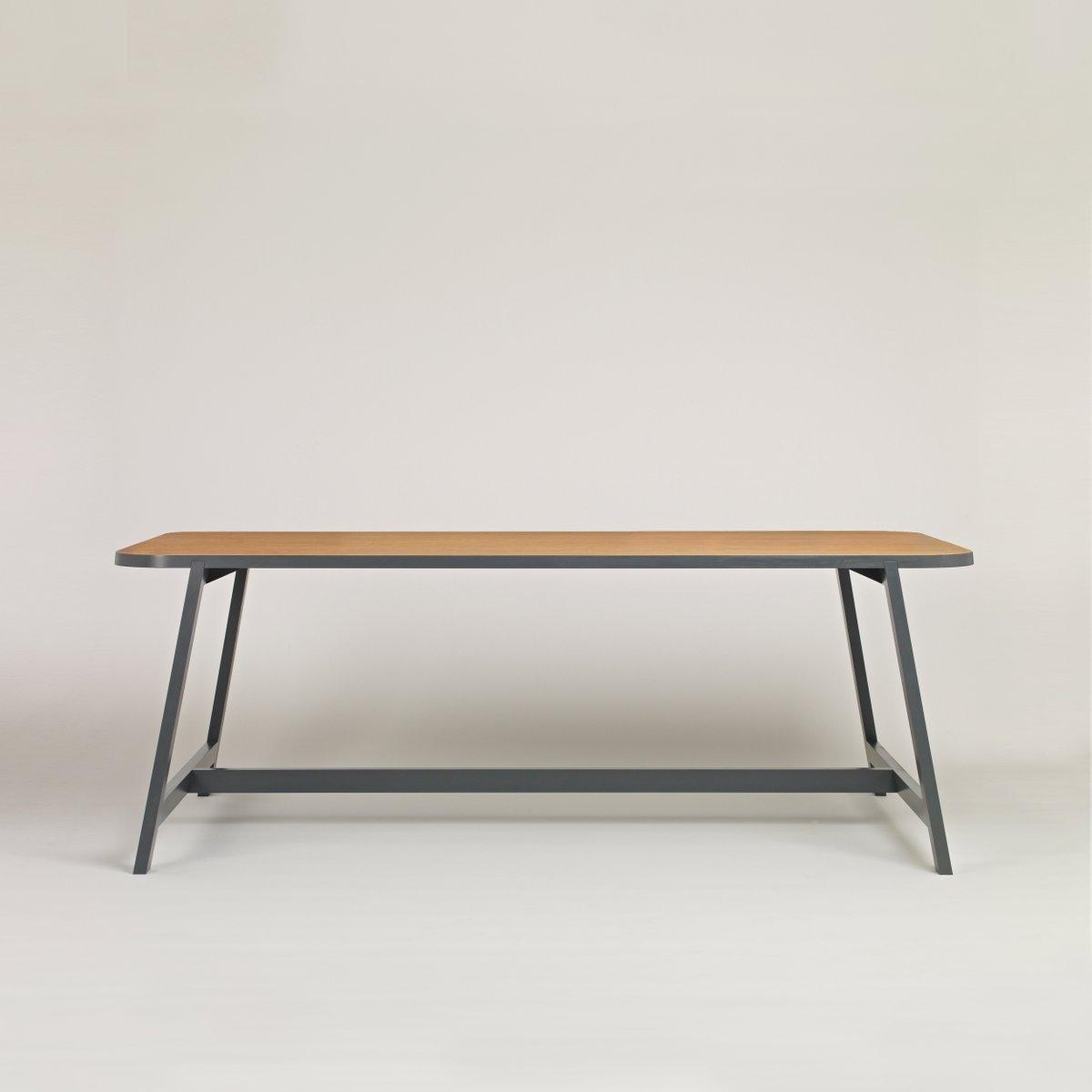 grande table de salle manger three en ch ne gris laqu par another country en vente sur pamono. Black Bedroom Furniture Sets. Home Design Ideas