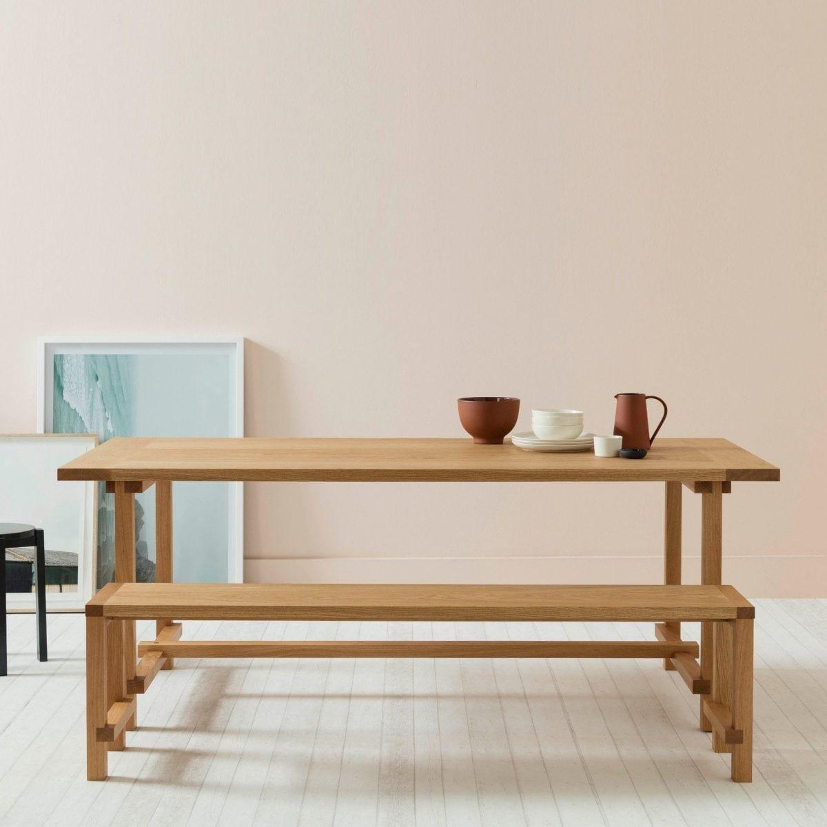 Grande table de salle manger four en ch ne naturel par another country en vente sur pamono - Table de salle a manger en chene ...