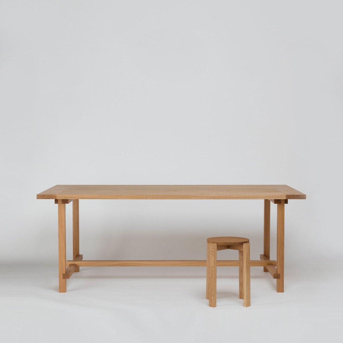 grande table de salle manger four en ch ne naturel par another country en vente sur pamono. Black Bedroom Furniture Sets. Home Design Ideas