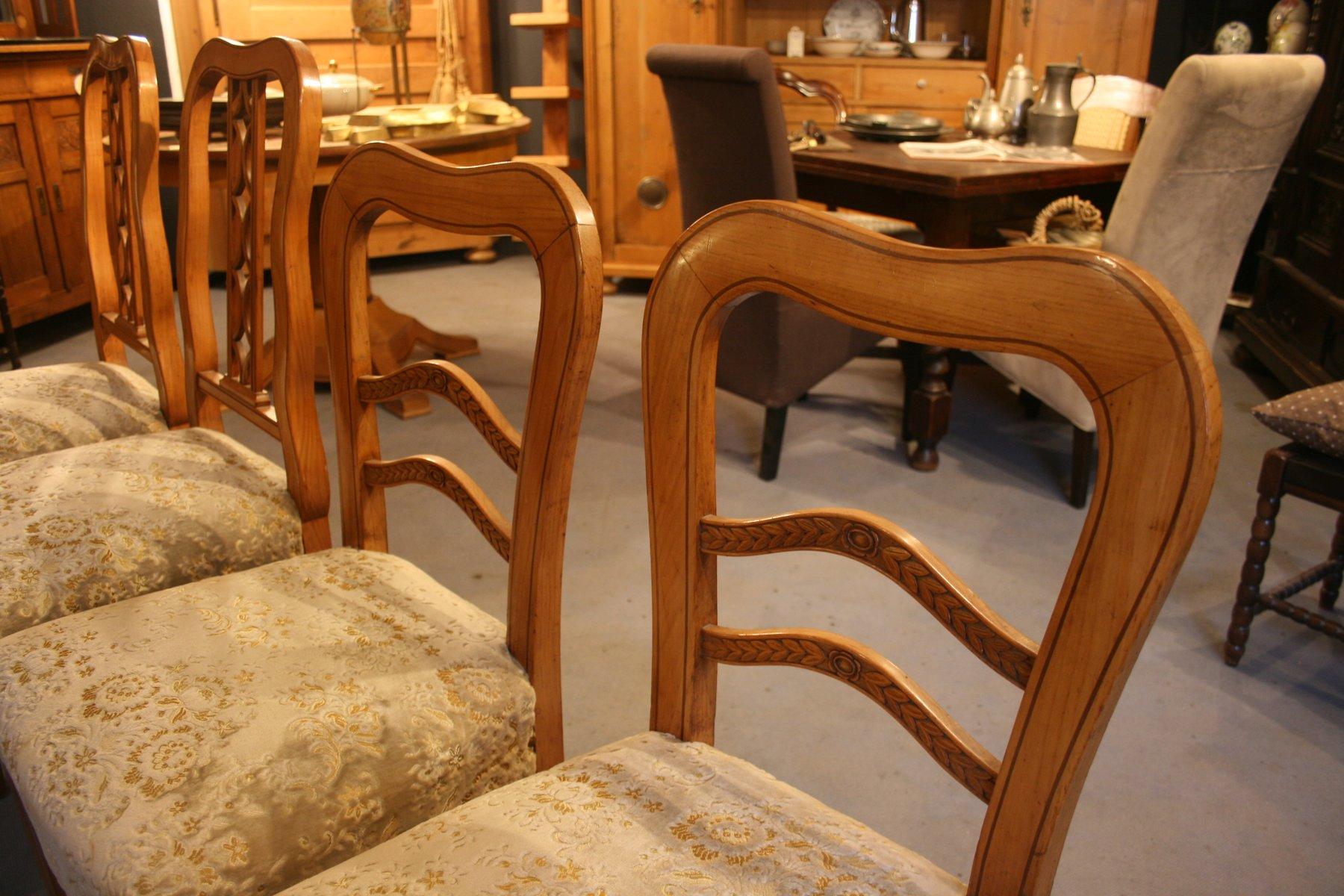 antike biedermeier st hle 4er set bei pamono kaufen. Black Bedroom Furniture Sets. Home Design Ideas