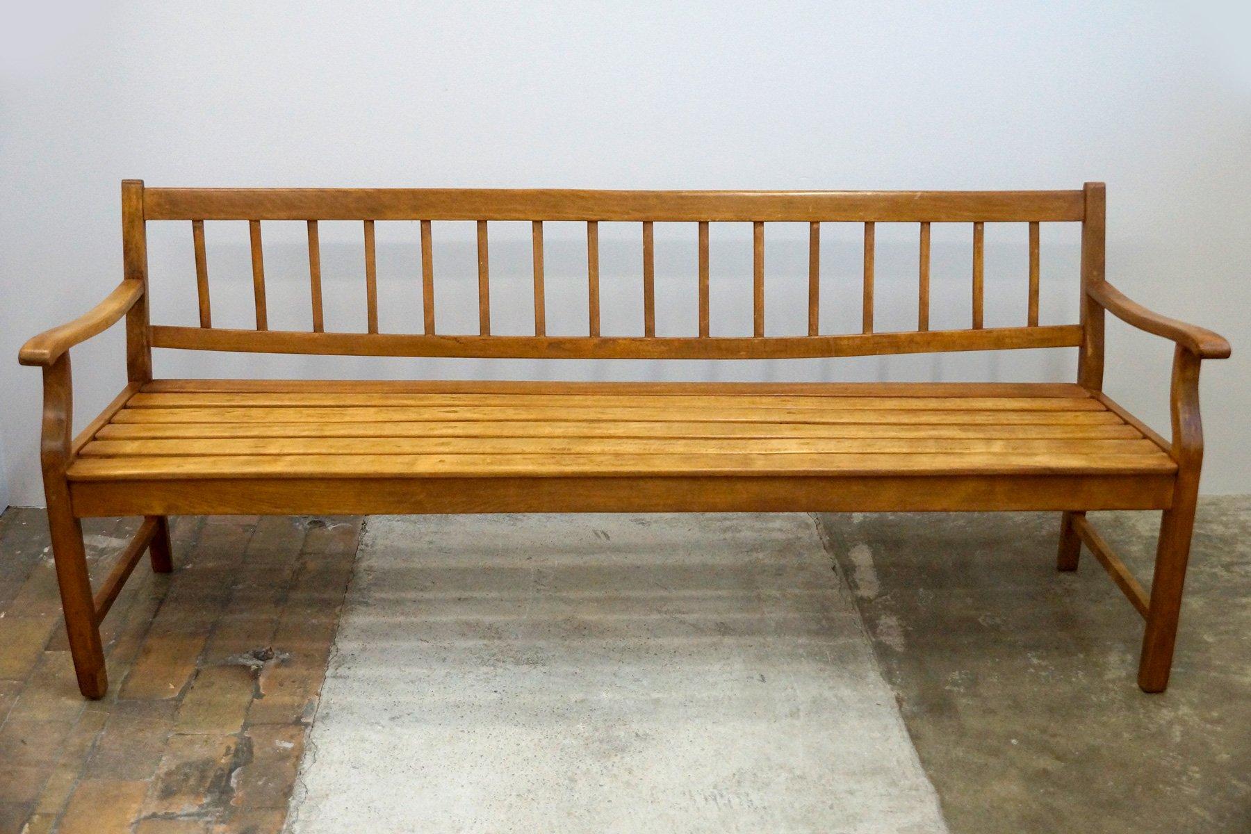 Biedermeier Sitzbank aus Holz, 1840er