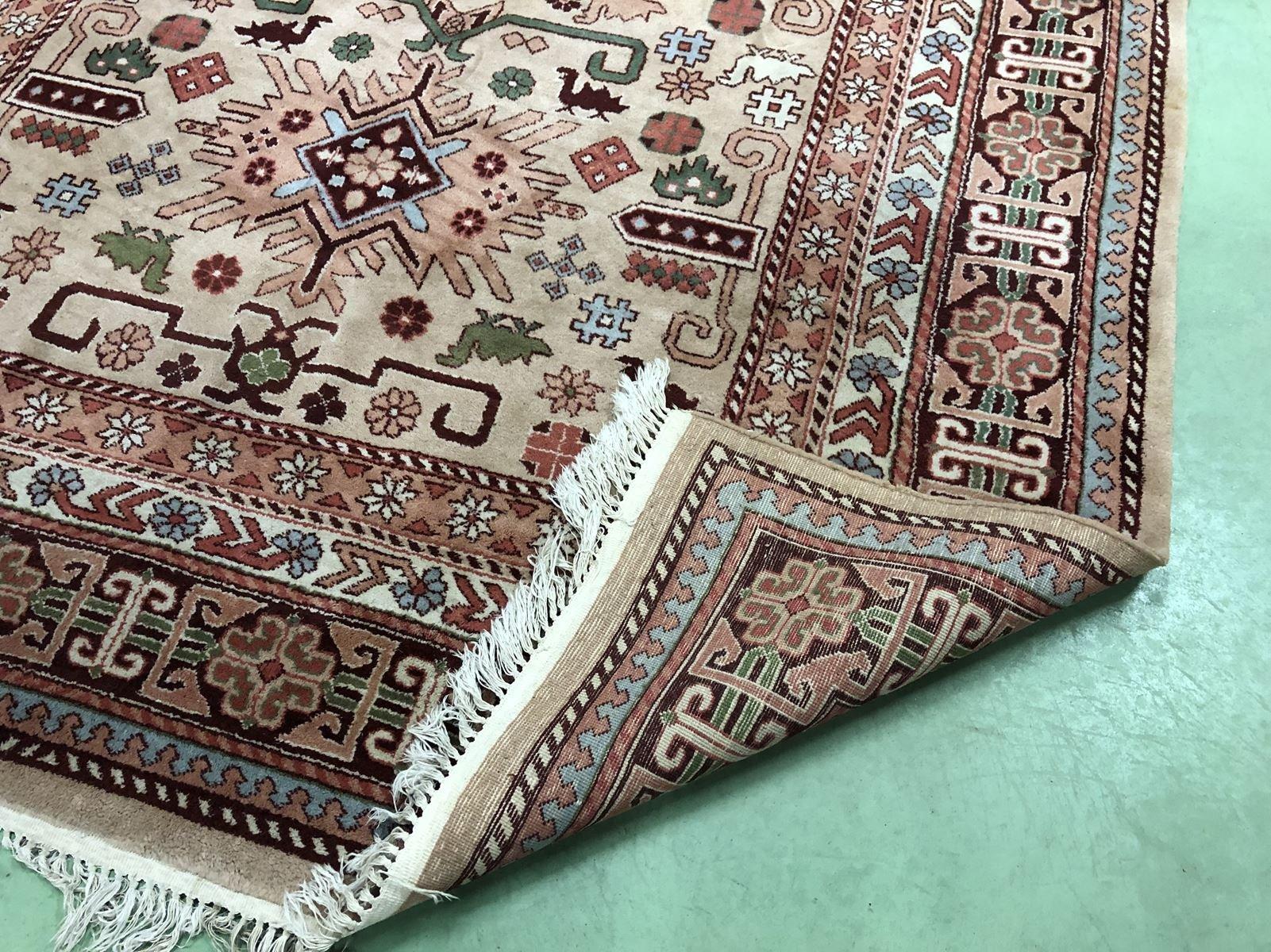 handgefertigter orientalischer teppich aus wolle seide 1950er bei pamono kaufen. Black Bedroom Furniture Sets. Home Design Ideas