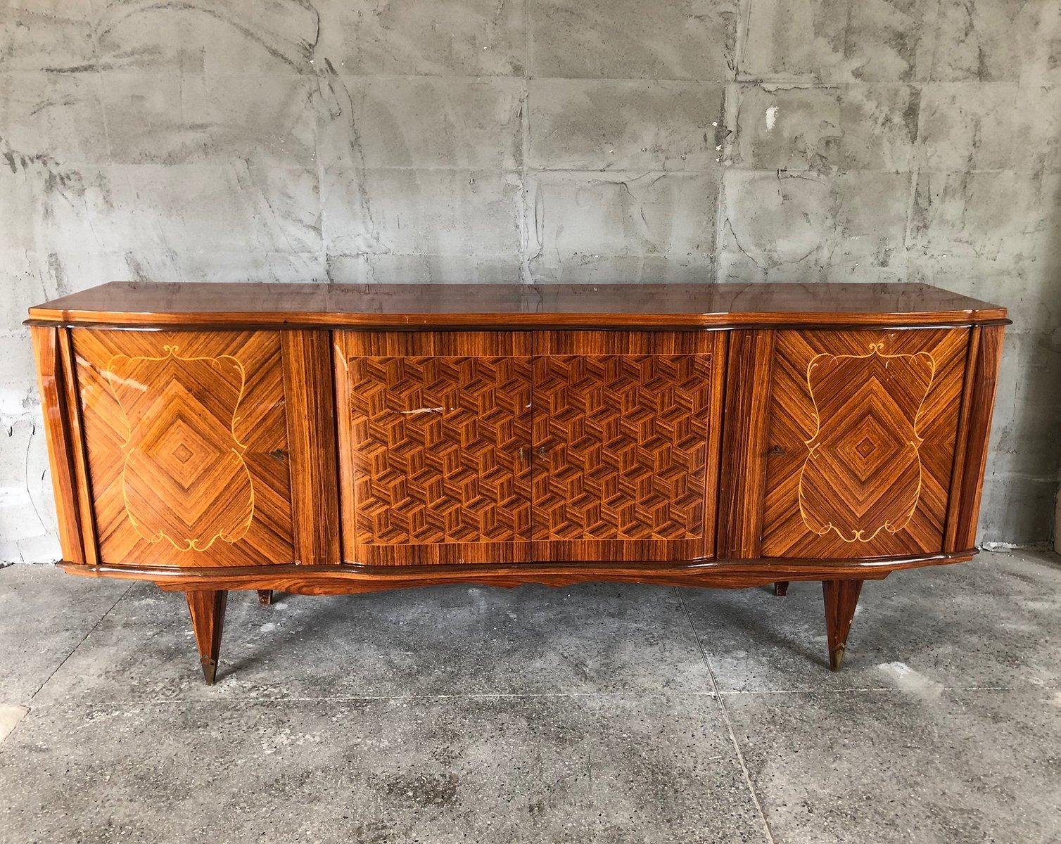 art deco sideboard aus palisander 1940er bei pamono kaufen. Black Bedroom Furniture Sets. Home Design Ideas
