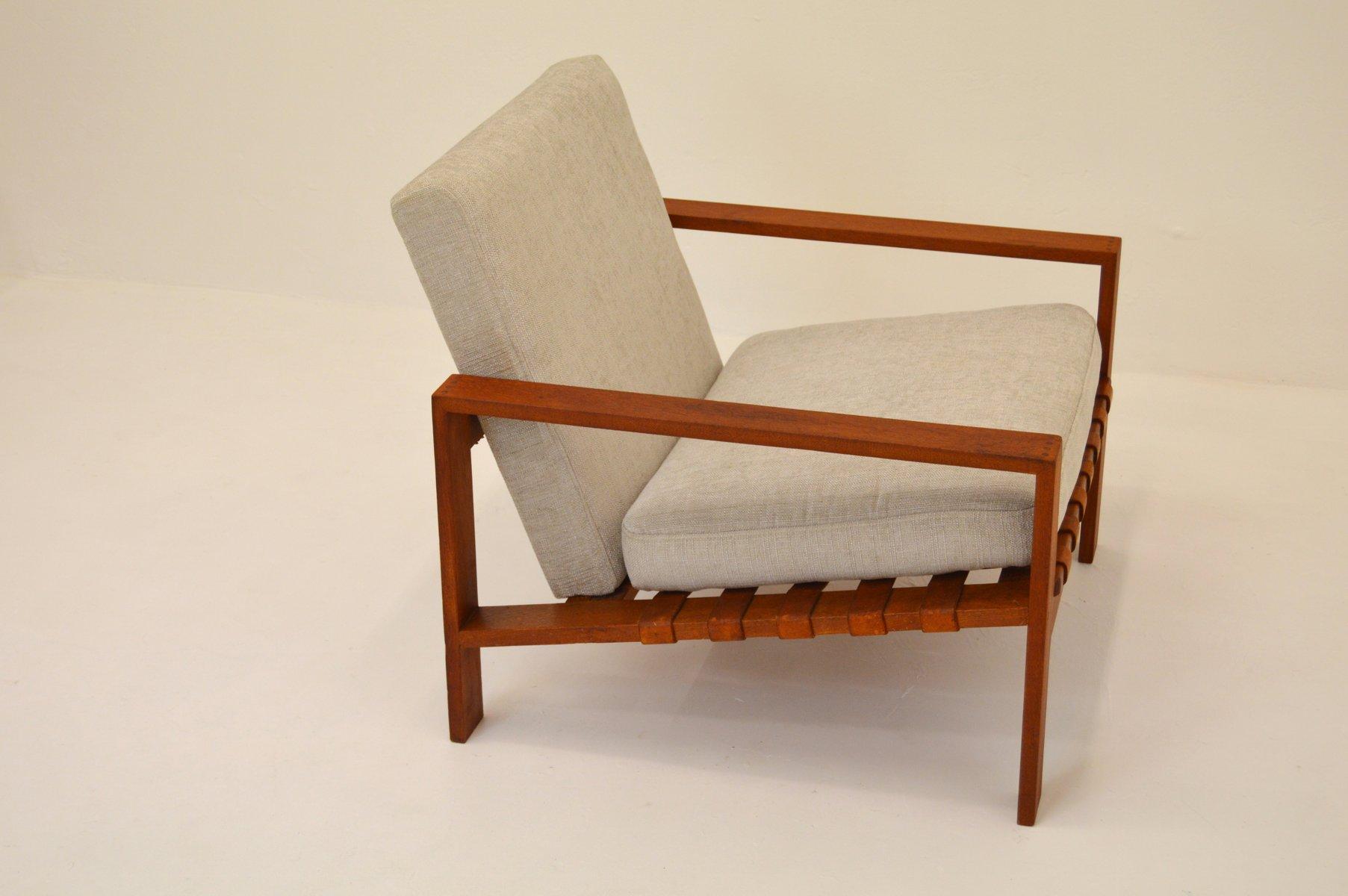 mid century sessel mit ledergewebe von svante skogh bei pamono kaufen. Black Bedroom Furniture Sets. Home Design Ideas