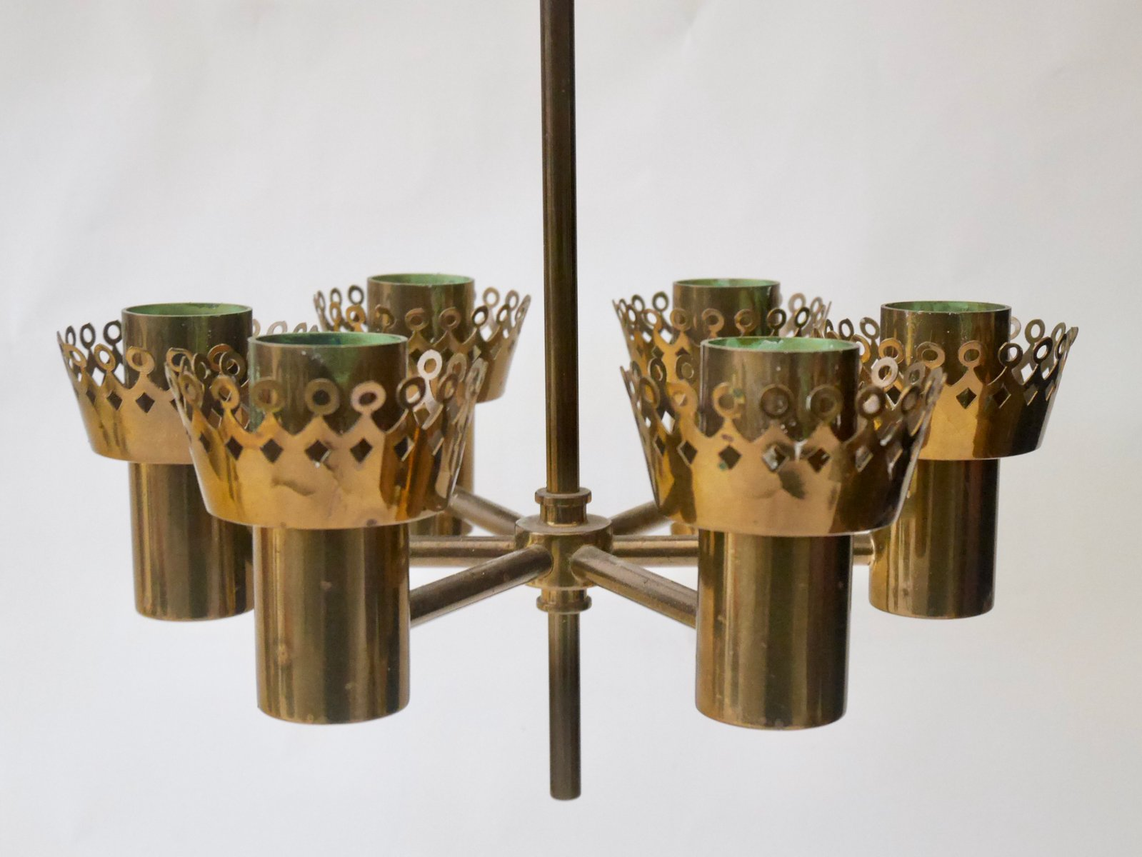 6 connectors 2,4 cm metal color bronze