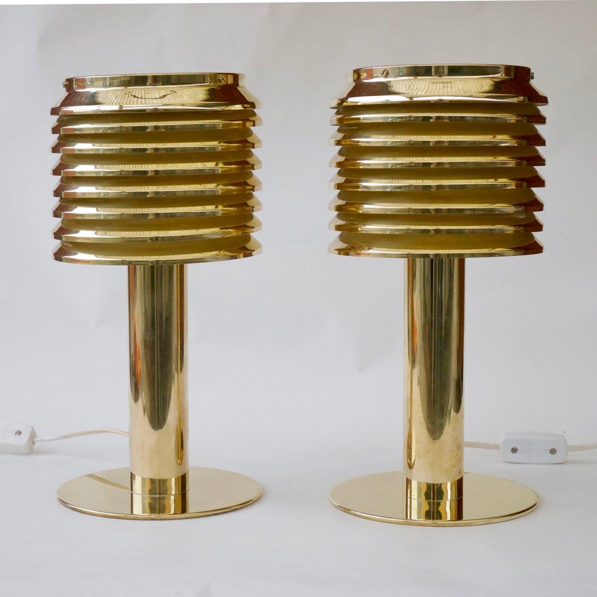 B142 Tischlampen aus Messing von Hans-Agne Jakobsson, 1960er, 2er Set