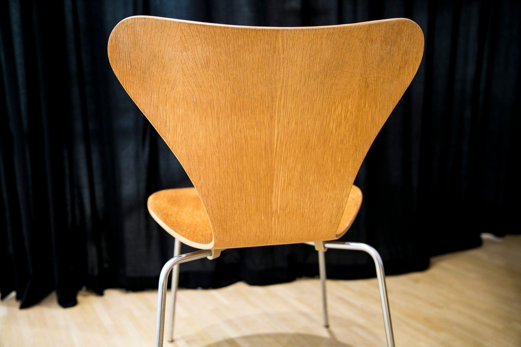 Serie 7 Stuhl Aus Eiche Von Arne Jacobsen Für Fritz Hansen 1970er
