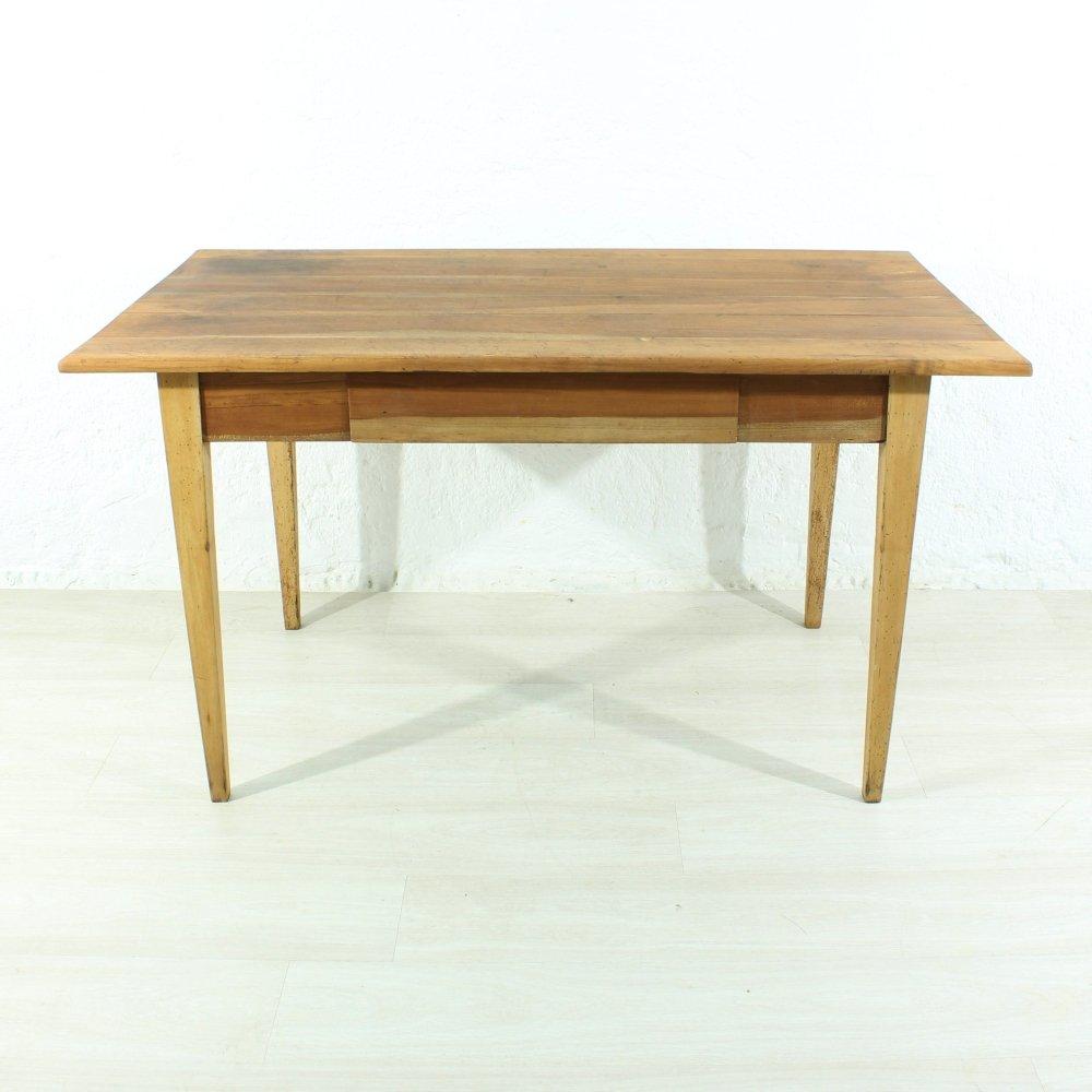 Antiker Ess- oder Schreibtisch aus Kirschholz, 1890er