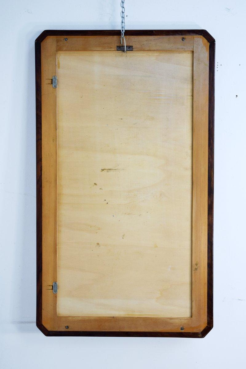 italienischer vintage spiegel mit rahmen aus holz messing bei pamono kaufen. Black Bedroom Furniture Sets. Home Design Ideas