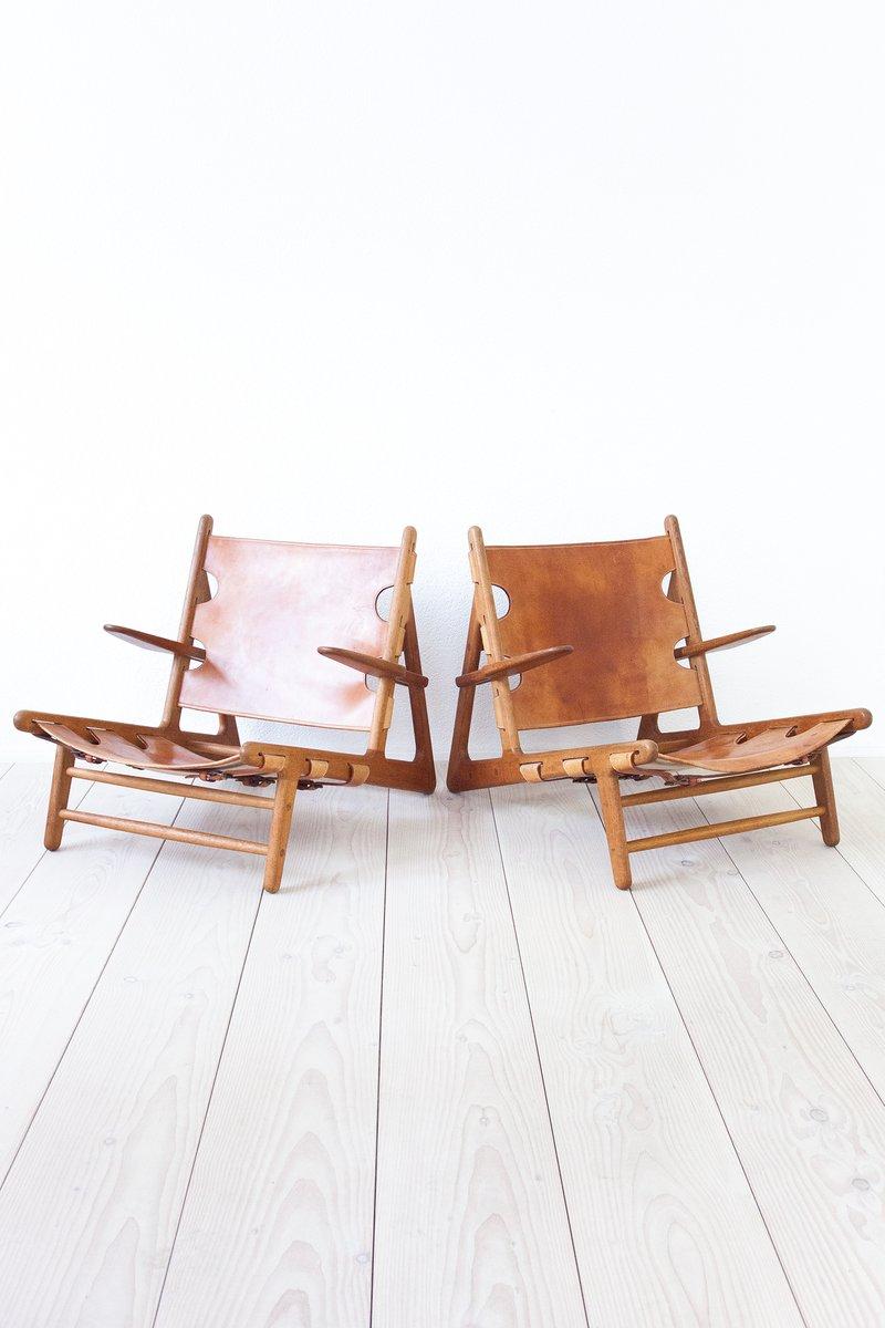 Hunting Chairs von Børge Mogensen für Erhard Rasmussen, 1950er, 2er Se...