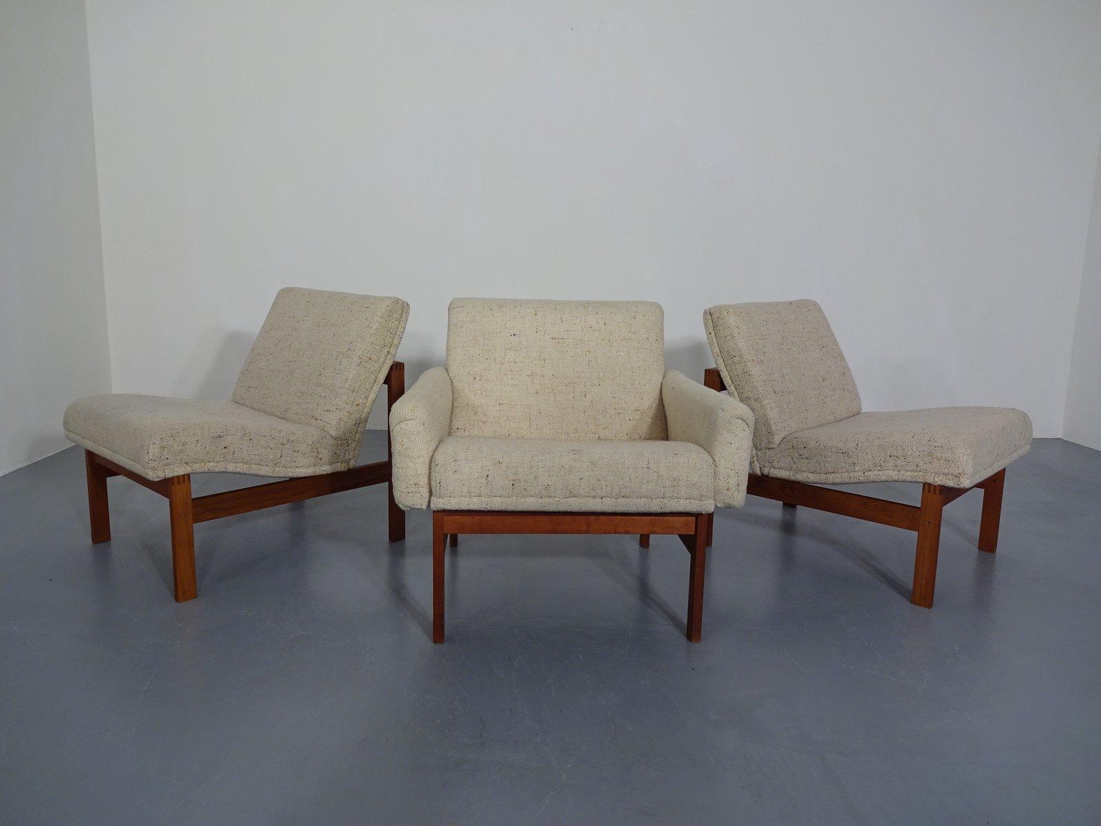 Modulare Sessel von Ole Gjerløv-Knudsen für France & Søn, 1962, 3er Se...