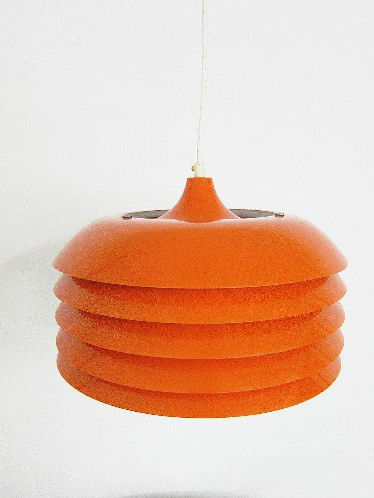 Orangene Vintage Hängelampe von Hans-Agne Jakobsson