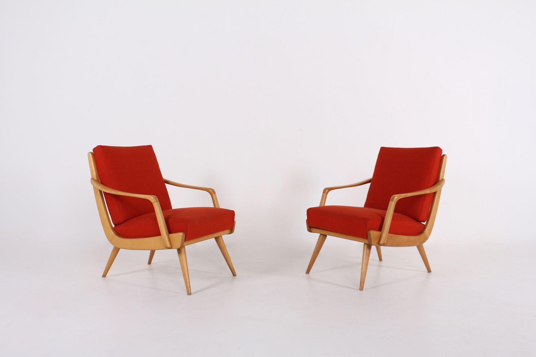 Vintage Sessel aus Kirschholz, 2er Set