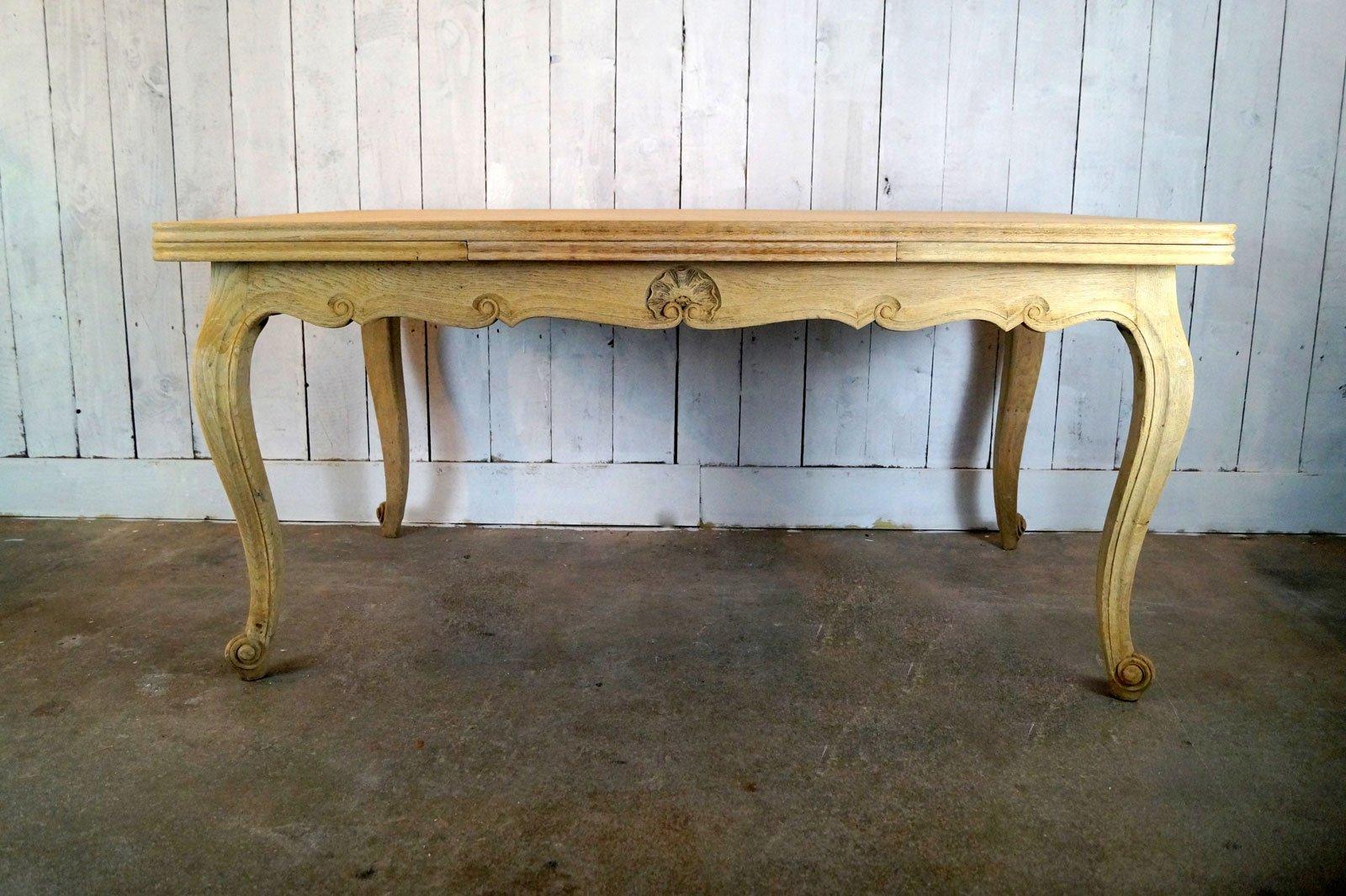 Vintage Tisch aus gebleichter Eiche