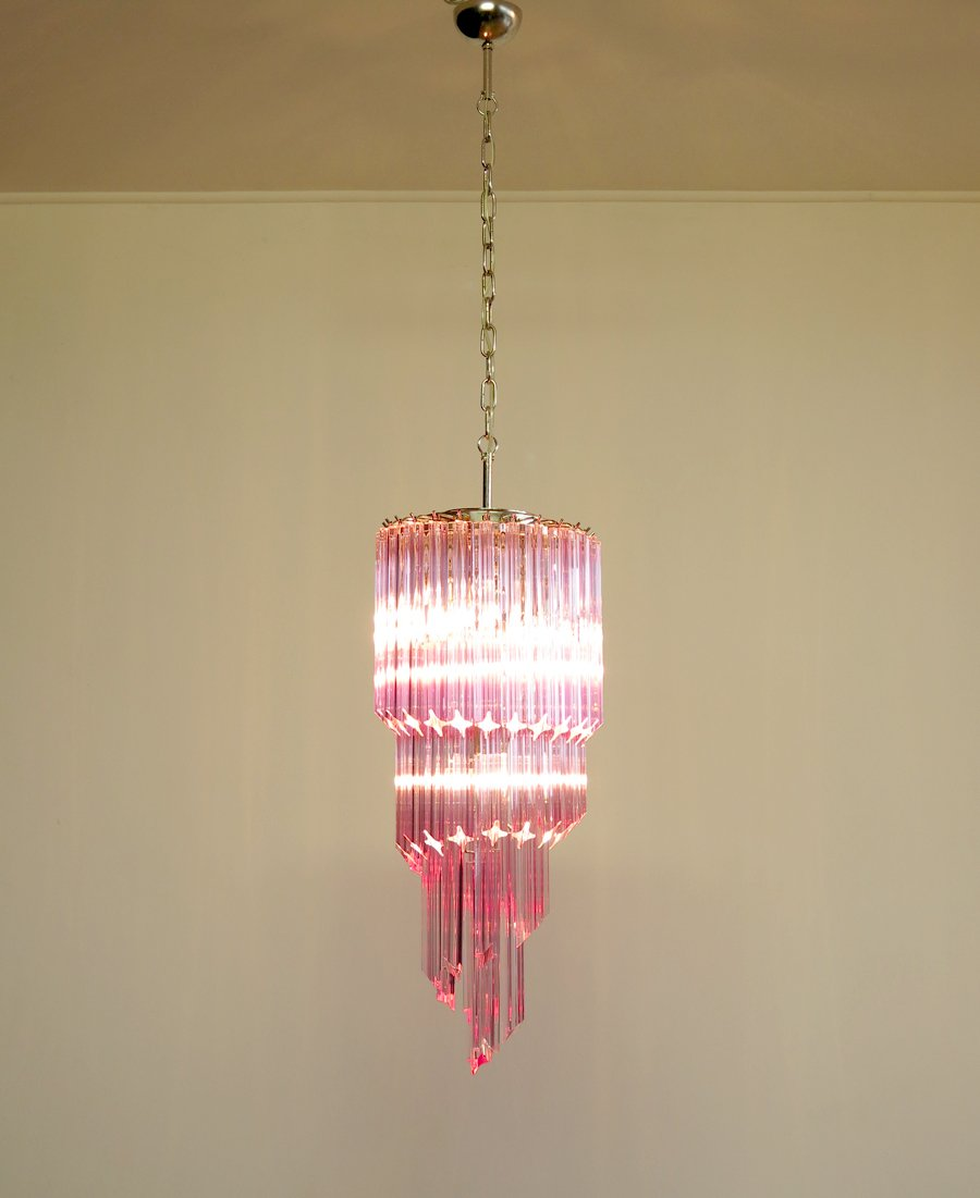 Murano Spiral Chandelier: Murano Glass Spiral Chandelier, 1982 For Sale At Pamono