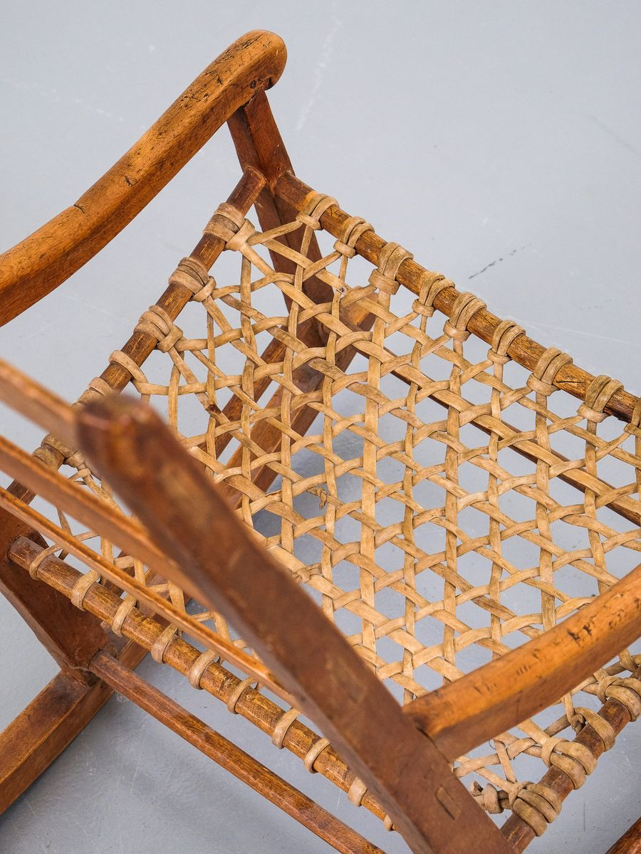 Small Antique Canadian Rocking Chair For Sale At Pamono