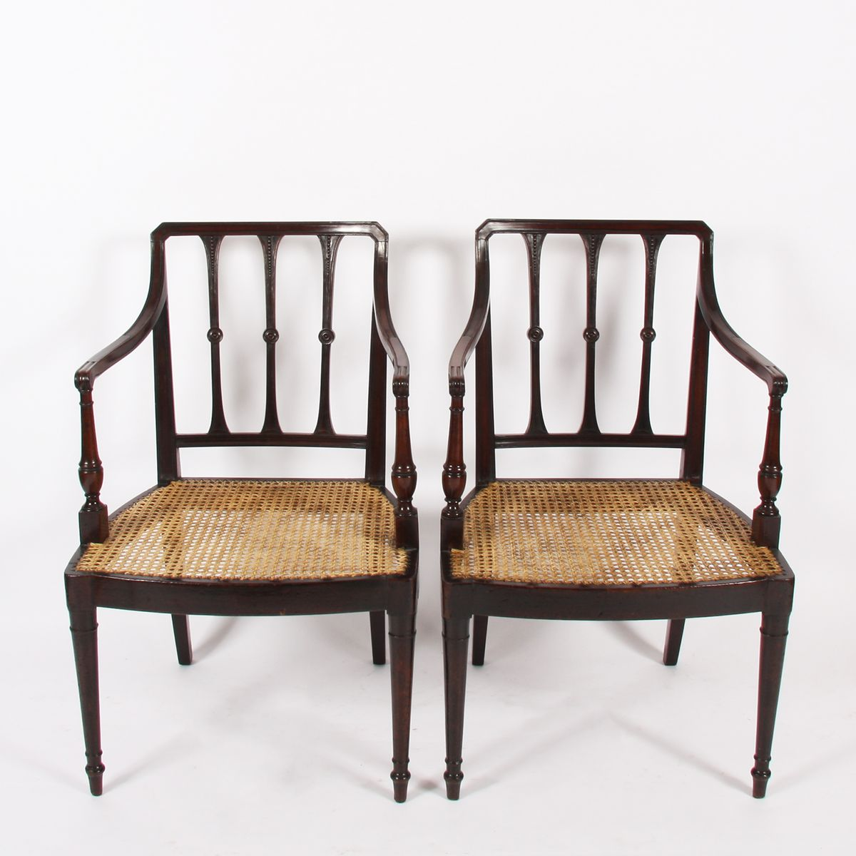 Price: $1,015.00 Regular Price: $1,477.00 - Antique Caned Chairs, Set Of 2 For Sale At Pamono