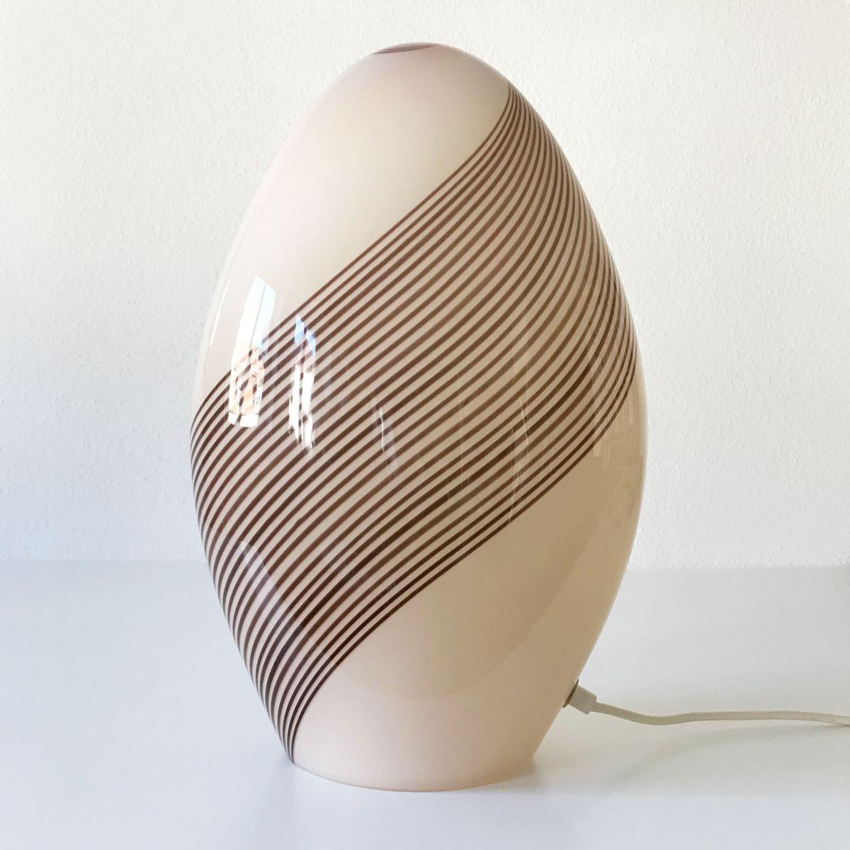 Tischlampe aus Muranoglas von Lino Tagliapietra für Effetre, 1980er