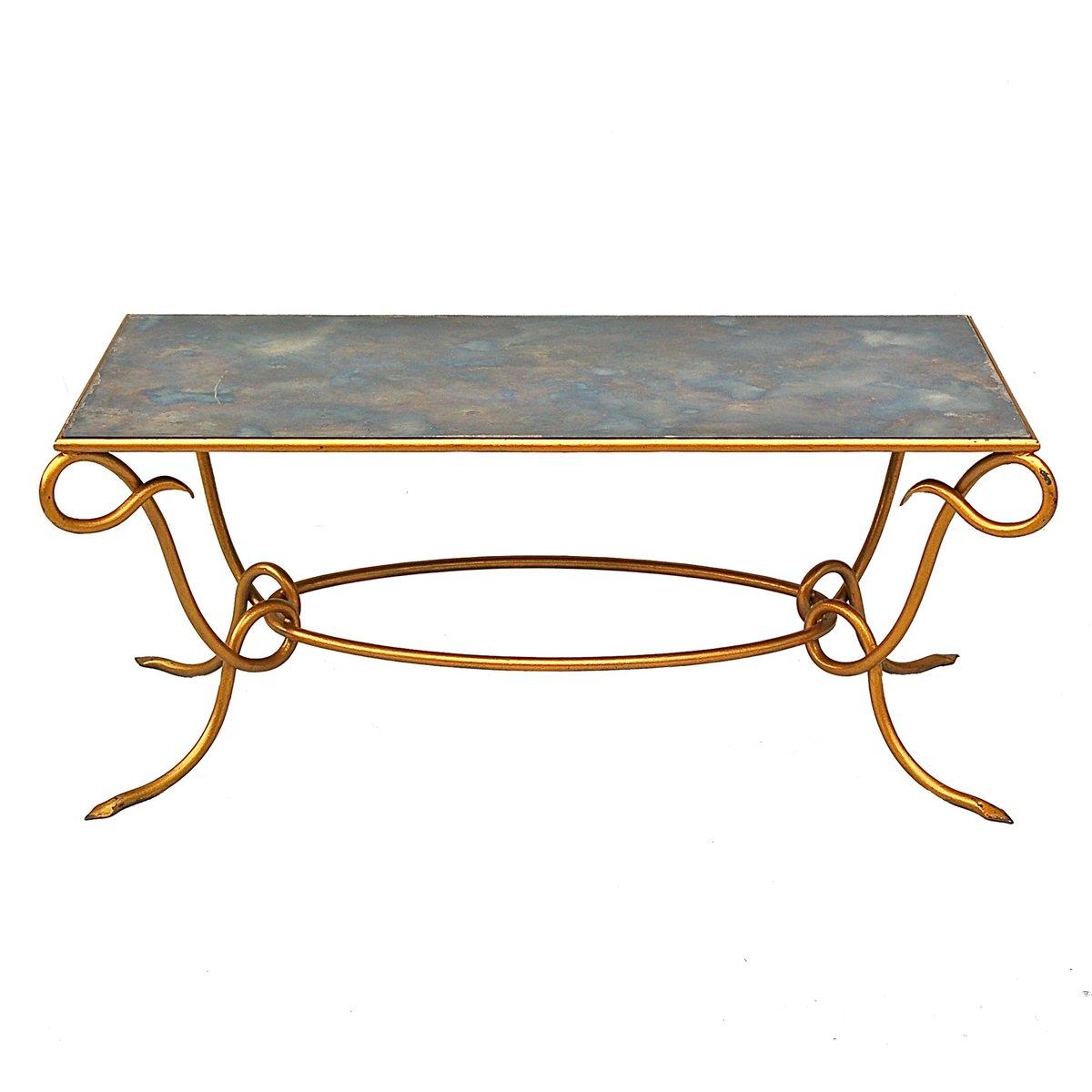 Table Basse Miroir Dorée par René Drouet, France, 1960s en vente sur ... 5e9035b61096