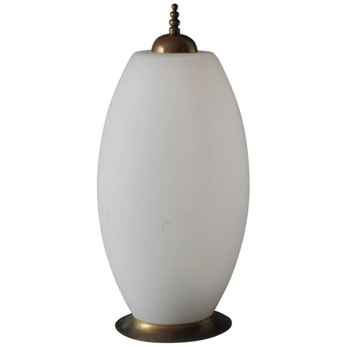 Weiße Vintage Tischlampe aus Glas von Fontana Arte, 1940er