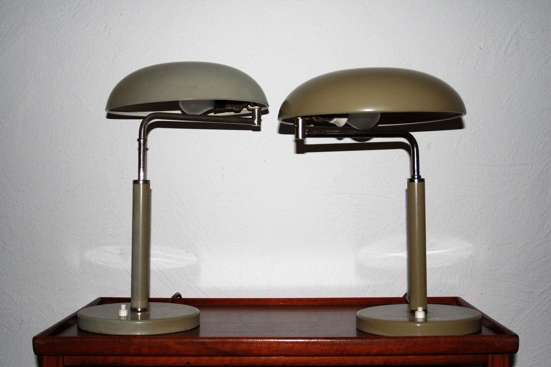 Quick 1500 Lampe in Olivgrün von Alfred Müller für Bag Turgi, 1930er