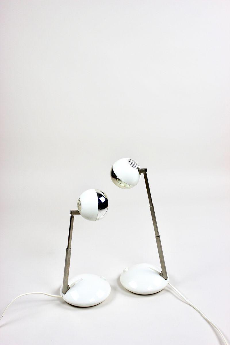 Kugelförmige Vintage Tischlampen von Eichhoff, 1970er, 2er Set