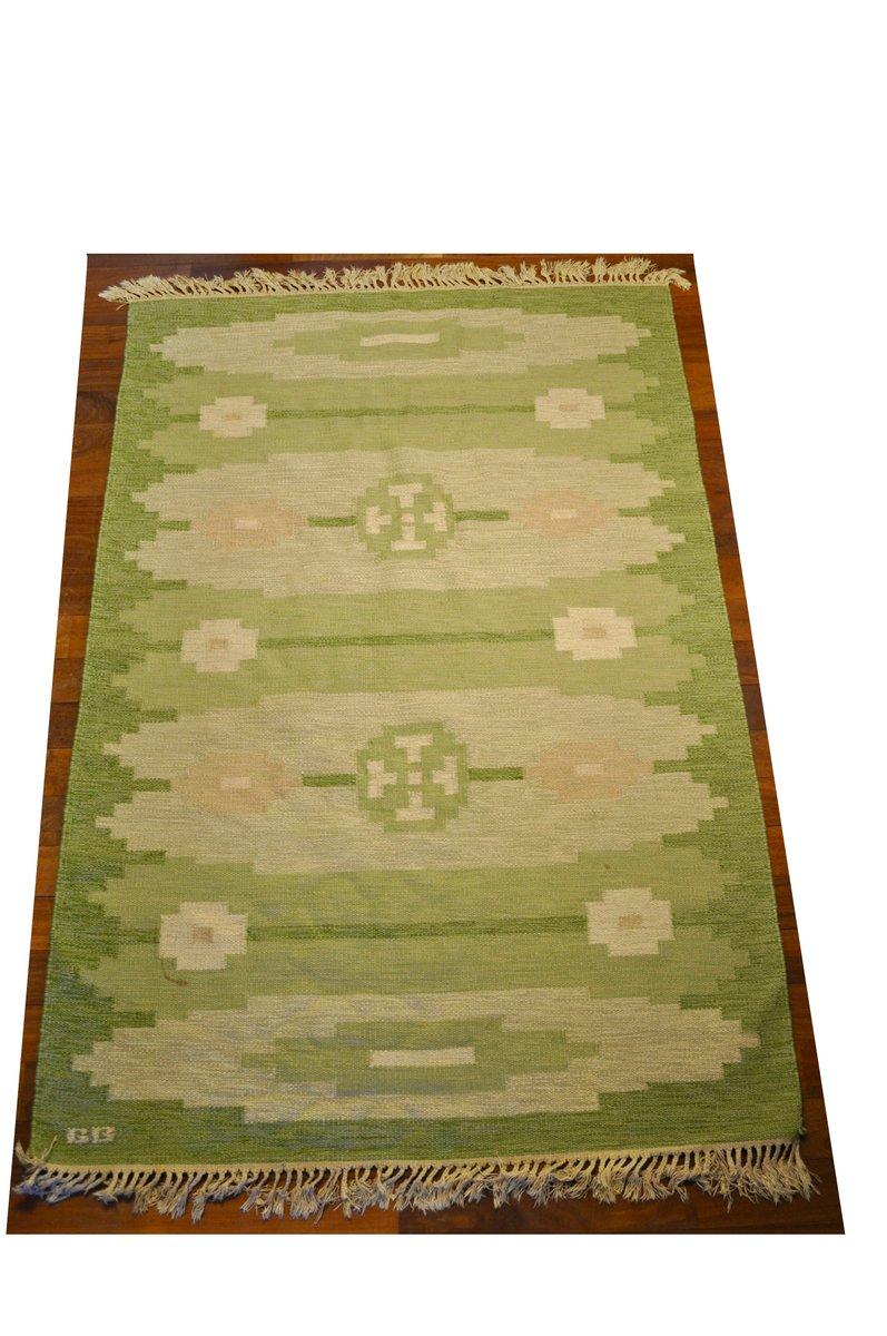 schwedischer rollakan teppich aus wolle wildleder 1950er bei pamono kaufen. Black Bedroom Furniture Sets. Home Design Ideas