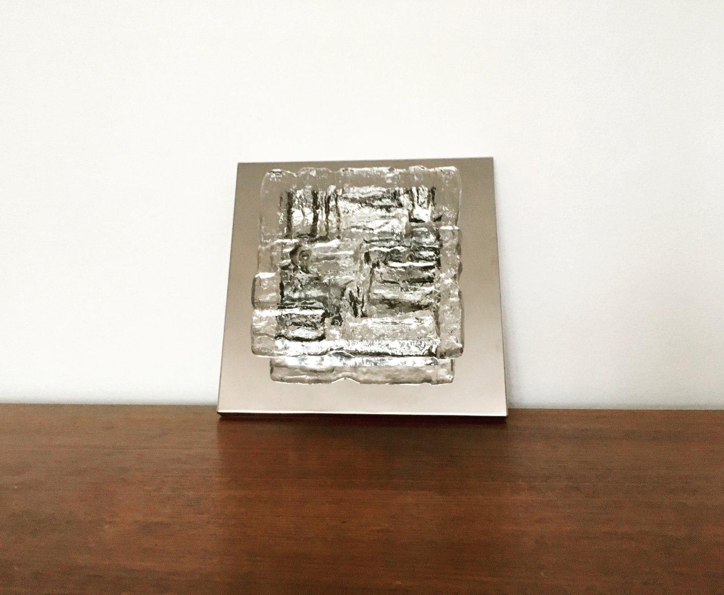 Wand- oder Deckenlampe aus Eisglas von J. T. Kalmar für Kalmar Franken...