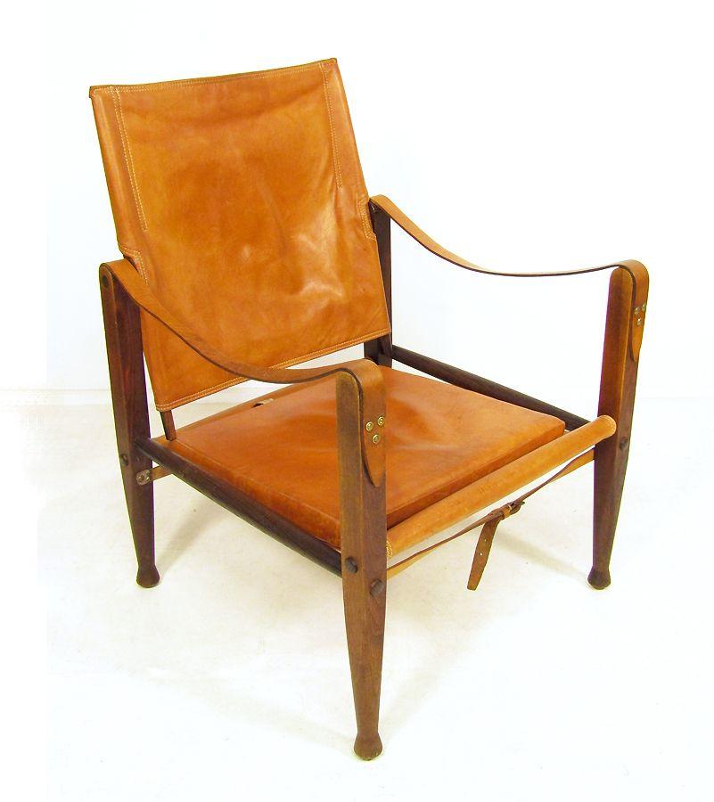Dänischer Safari Chair von Kaare Klint für Rud Rasmussen, 1950er